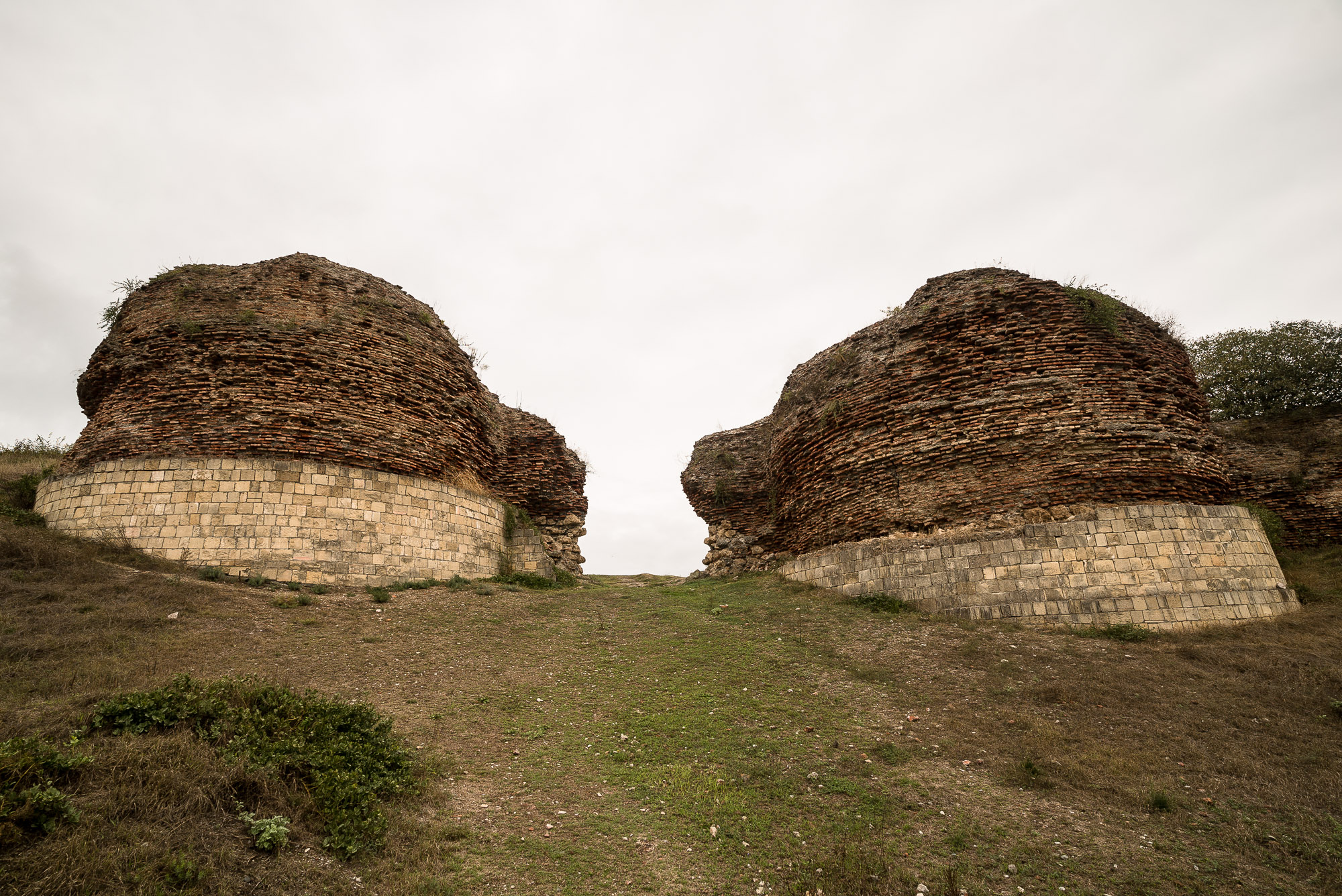 the remains of the city wall