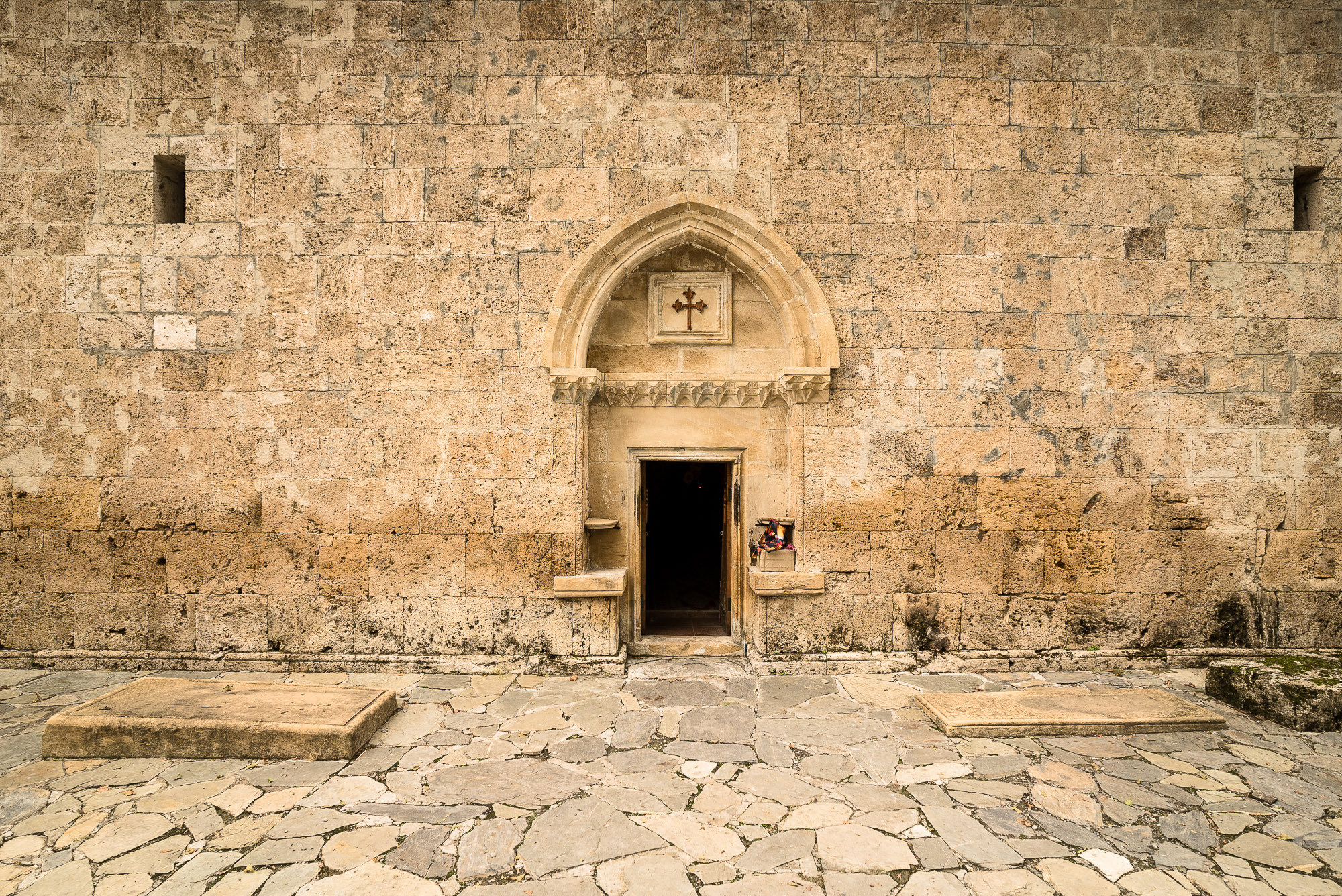 door of the Alban-Udi Church Chotari