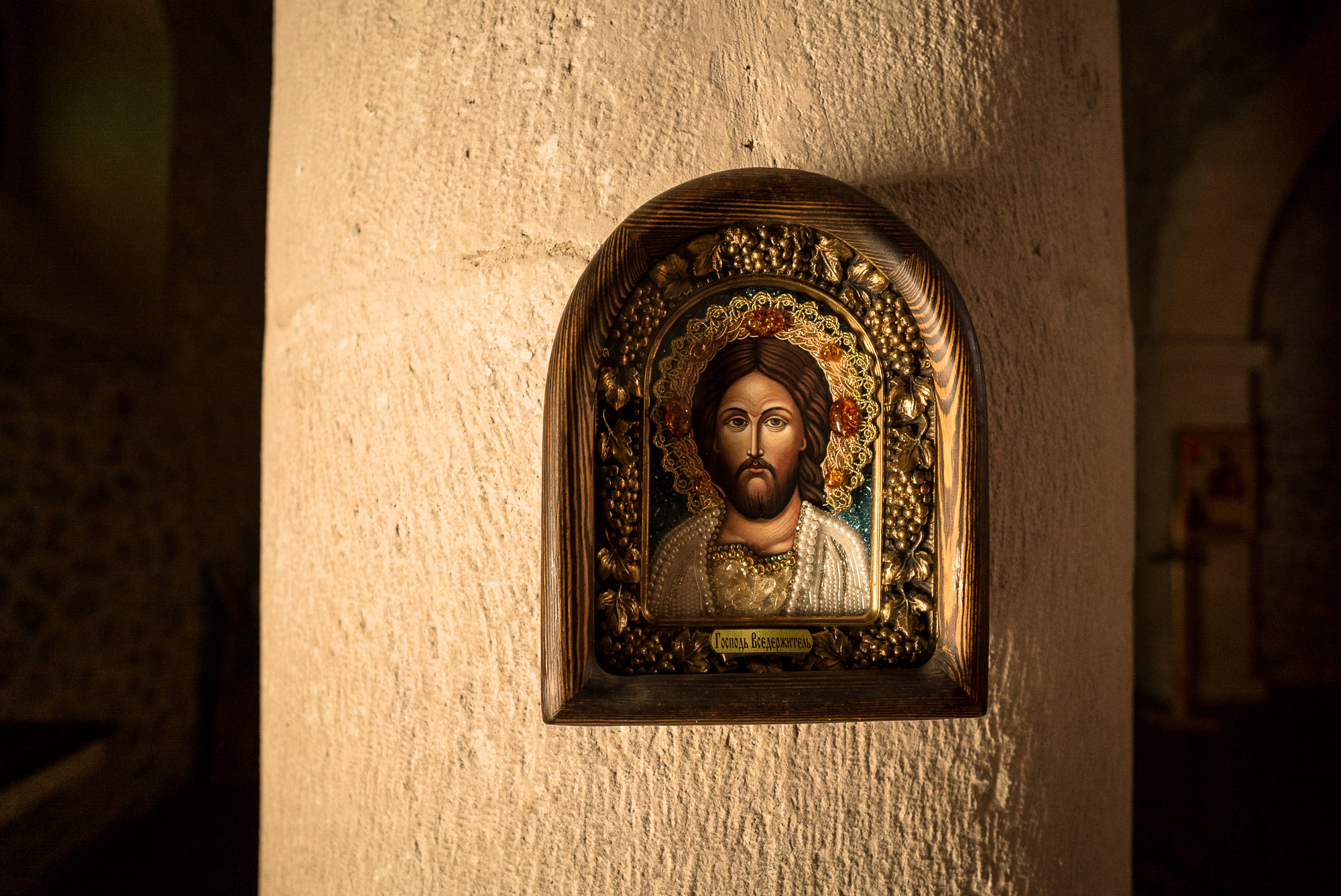 Jesus picture in the Alban-Udi Church Chotari