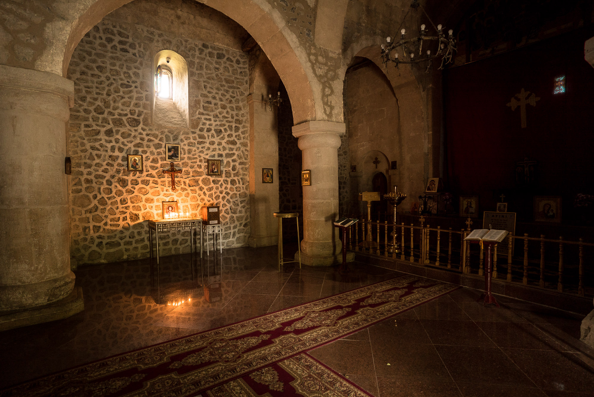 inside the Alban-Udi Church Chotari