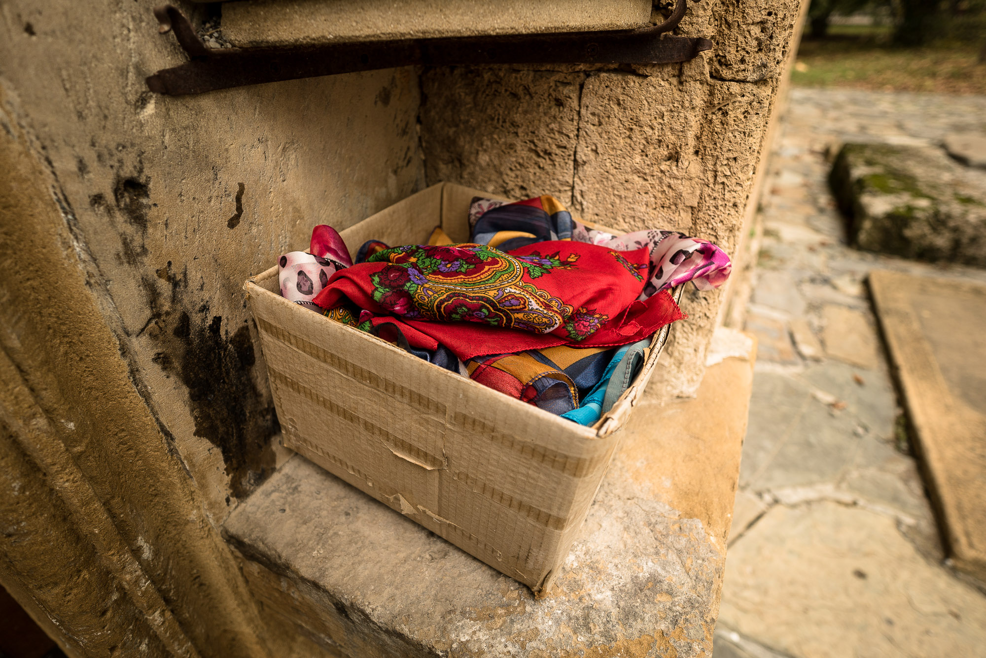 headscarves at the Alban-Udi Church Chotari
