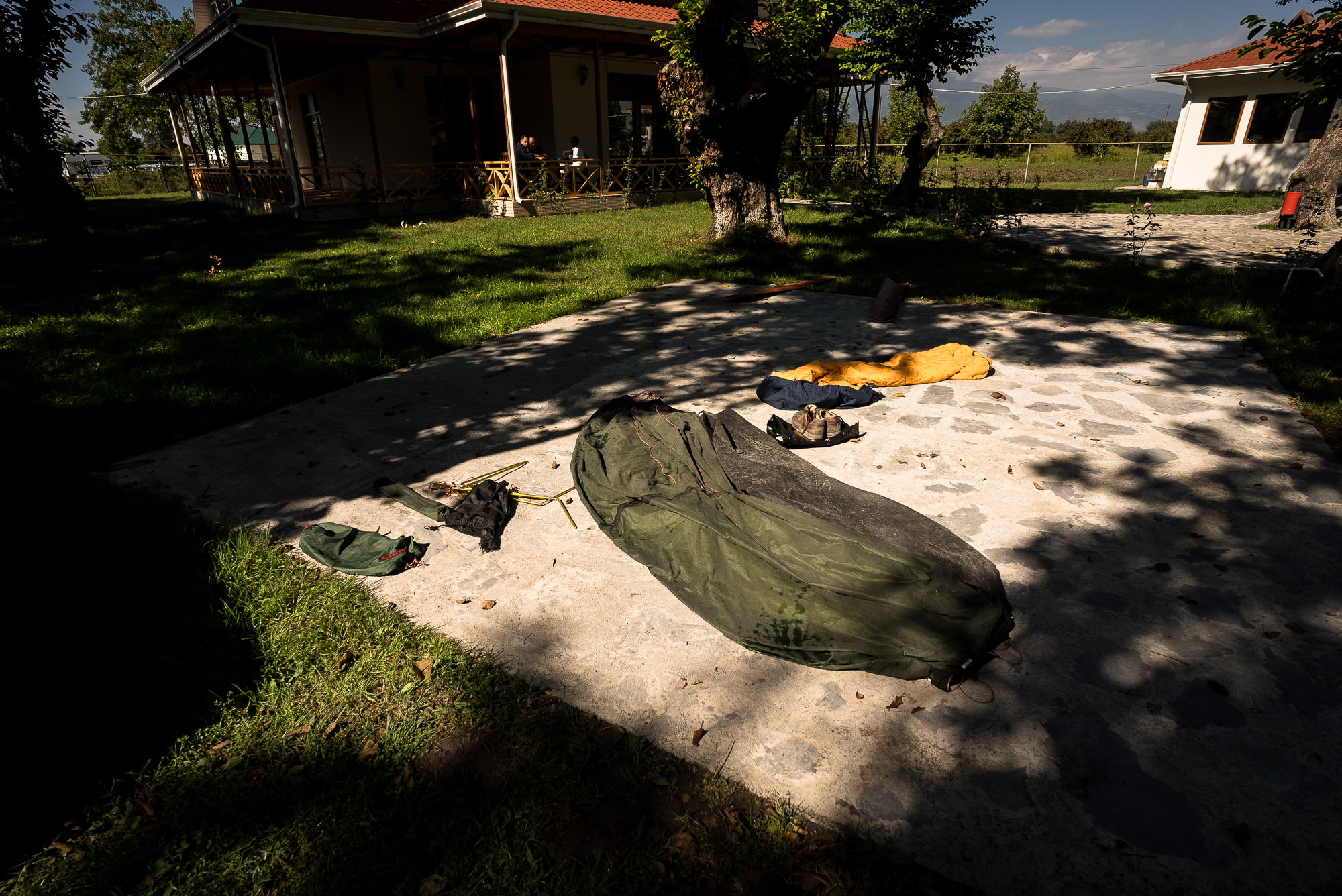 drying the tent