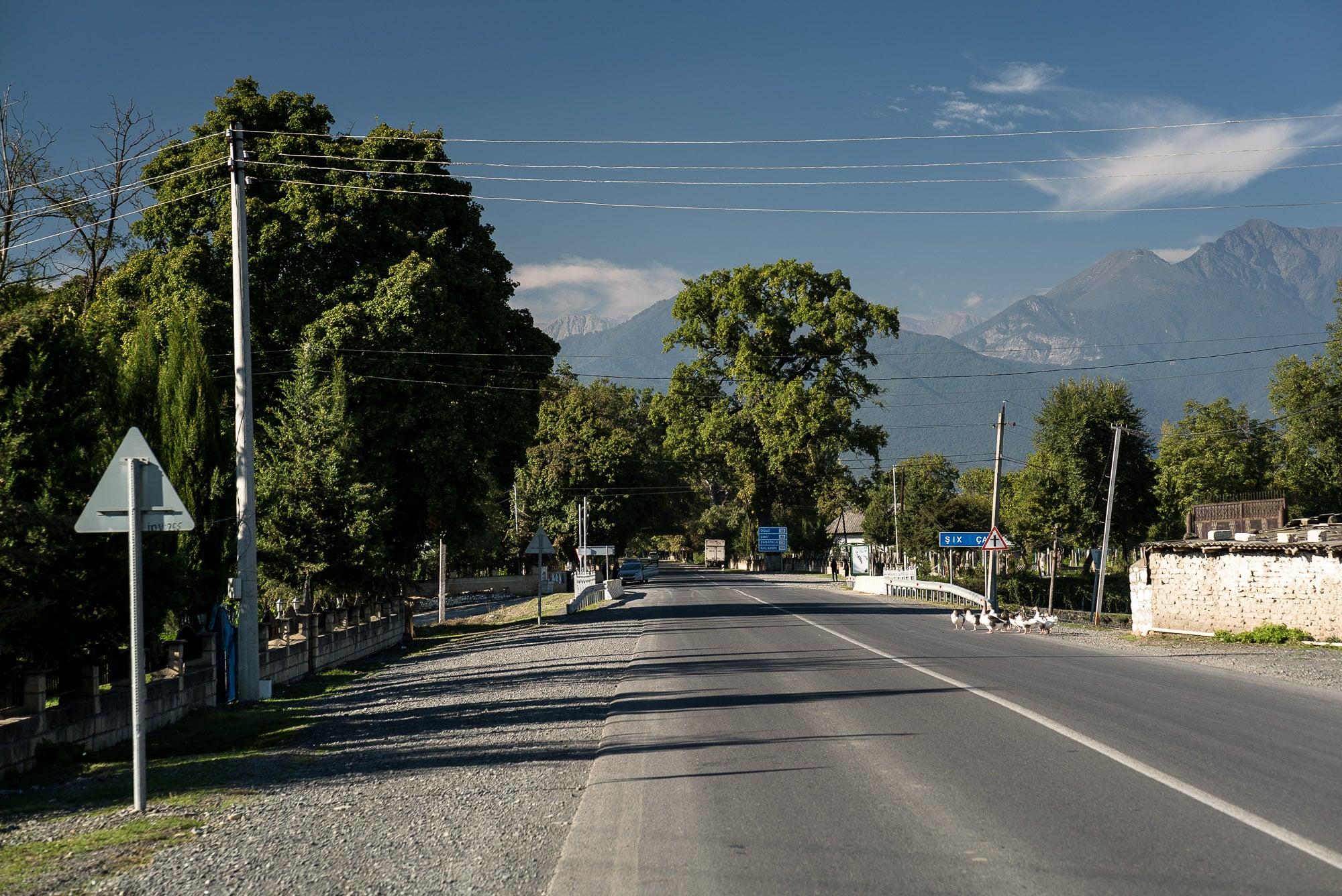 road in the Caucasus