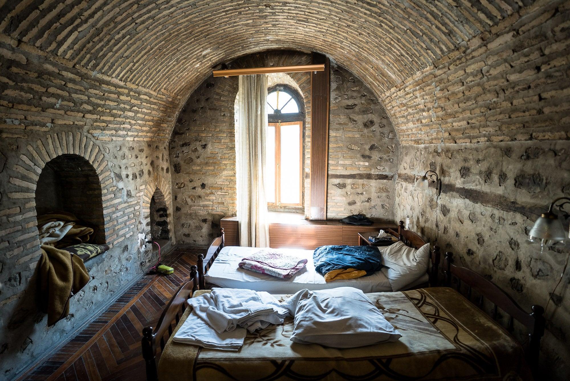 bed in the Caravanserai