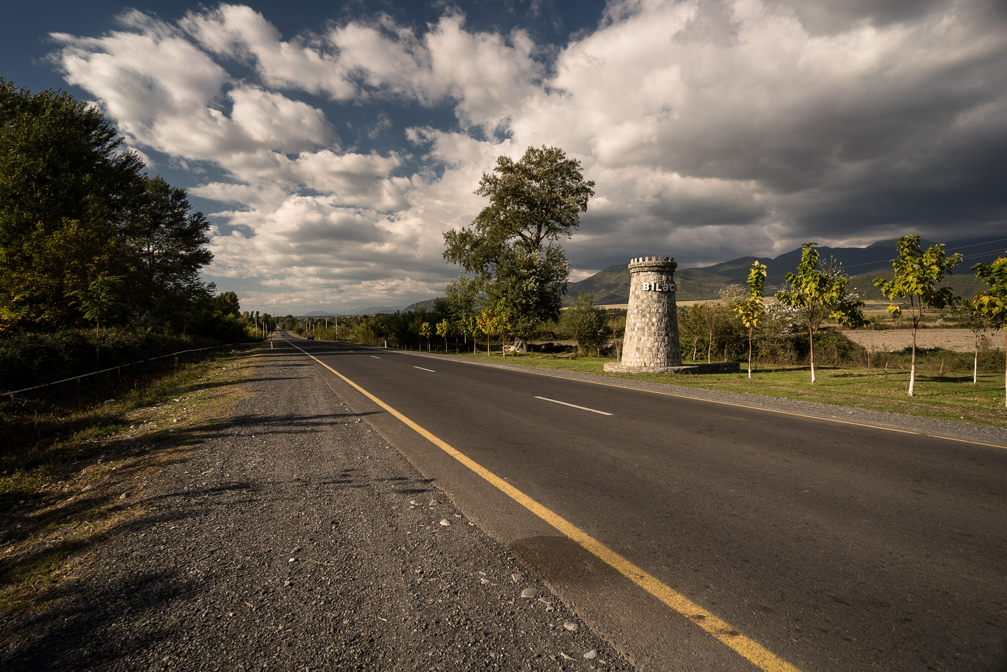 road with monument