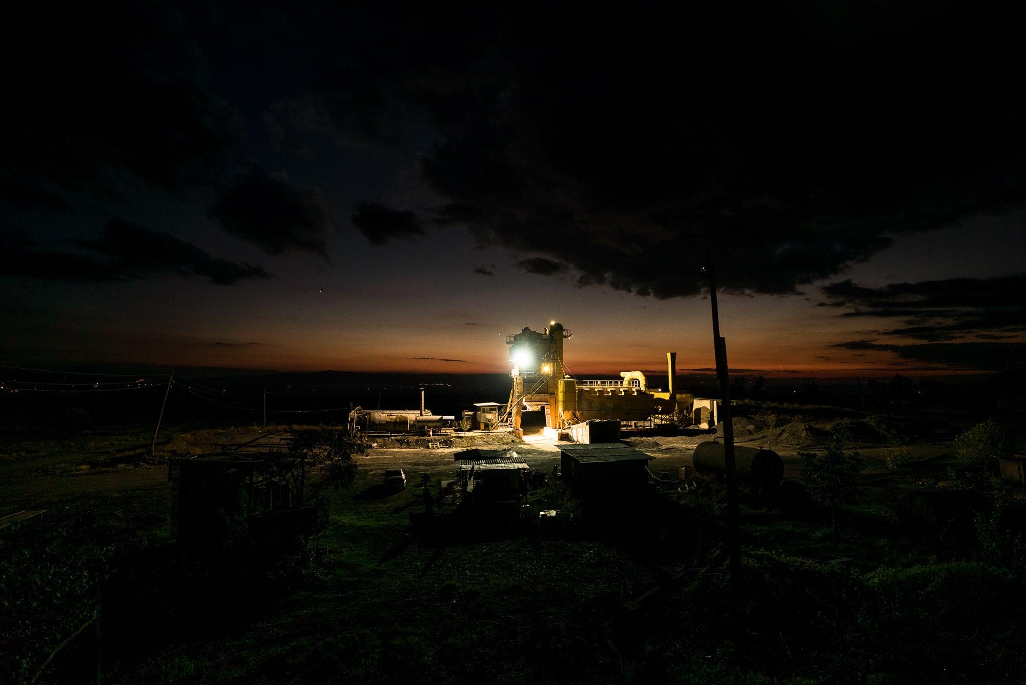 Azerbaijan at night