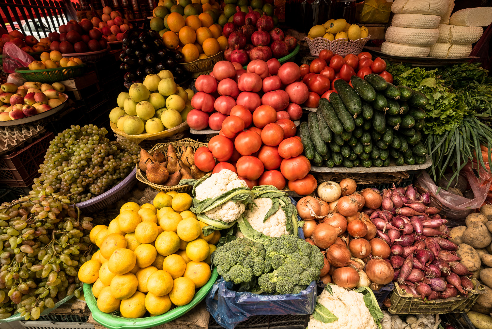 vegetables and fruits in Lagodekhi