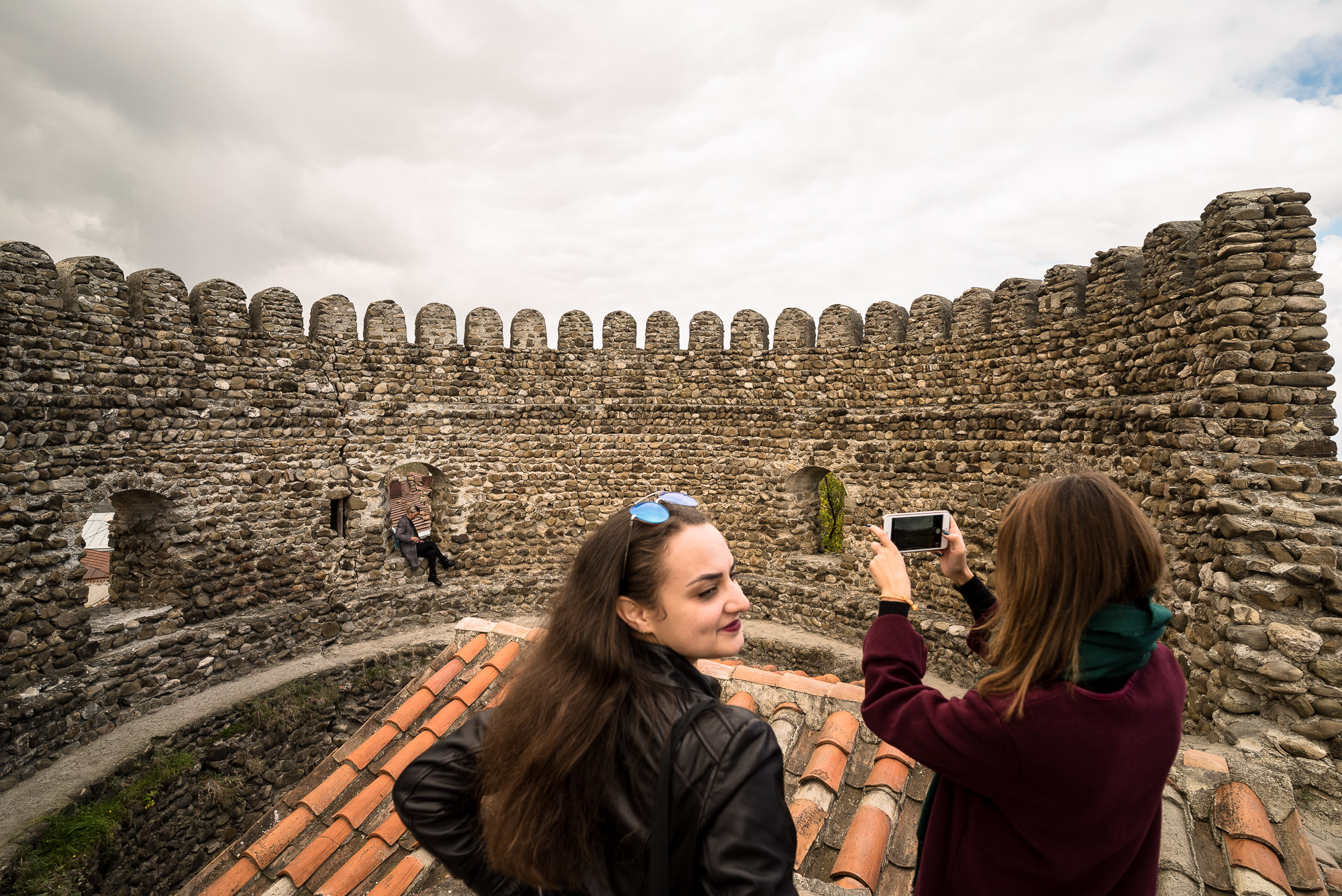 tourist selfies in Sighnaghi