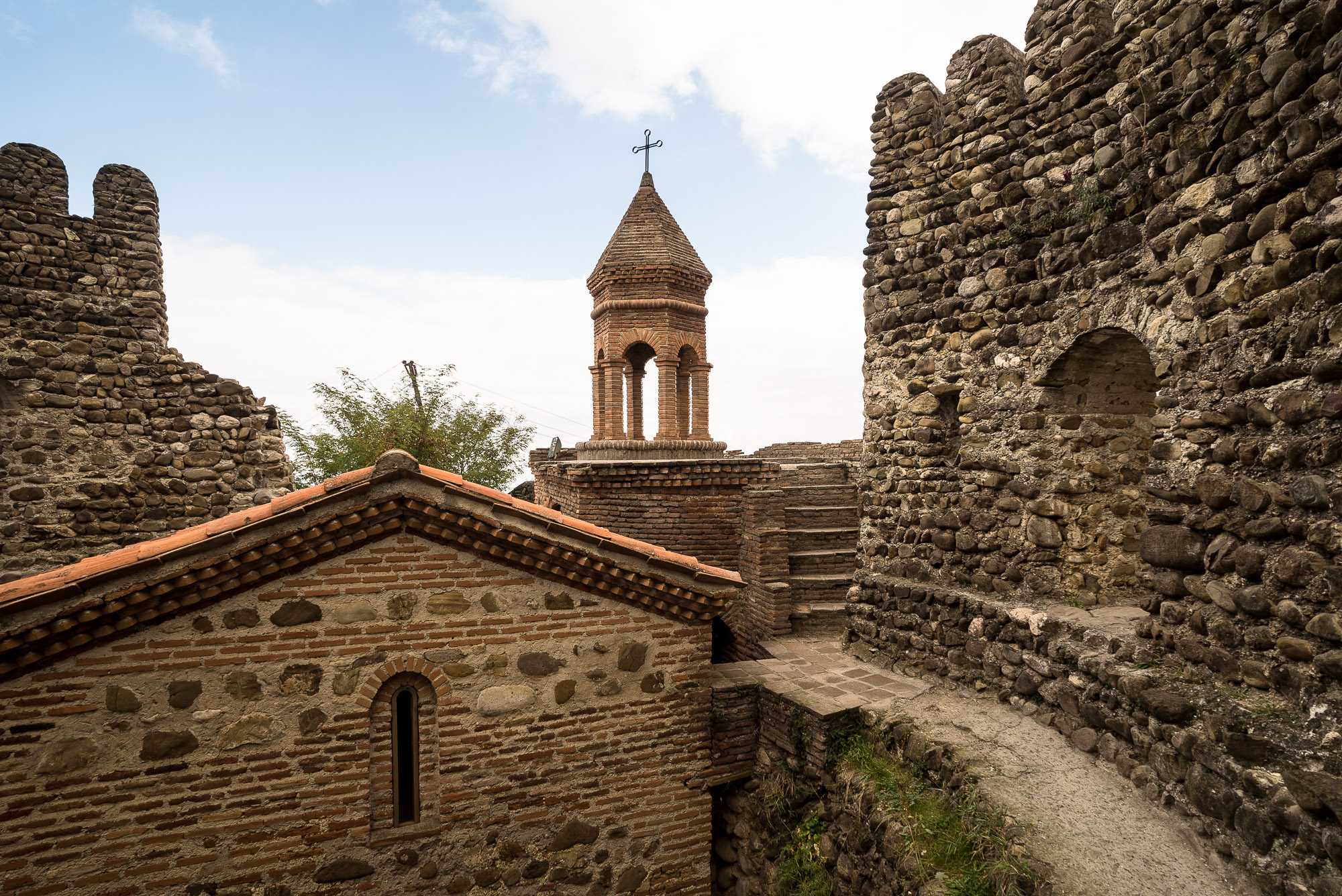old church with city wall in Sighnaghi
