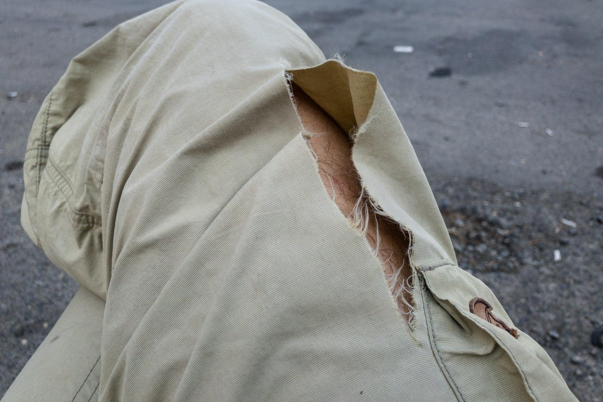 broken pants