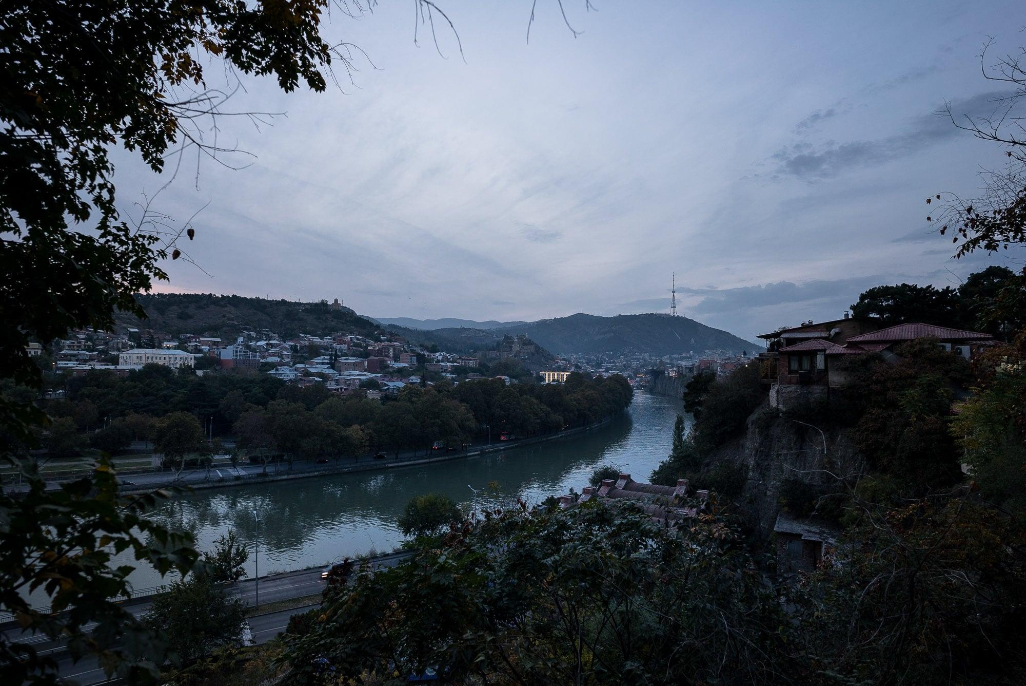 Tbilisi at dusk