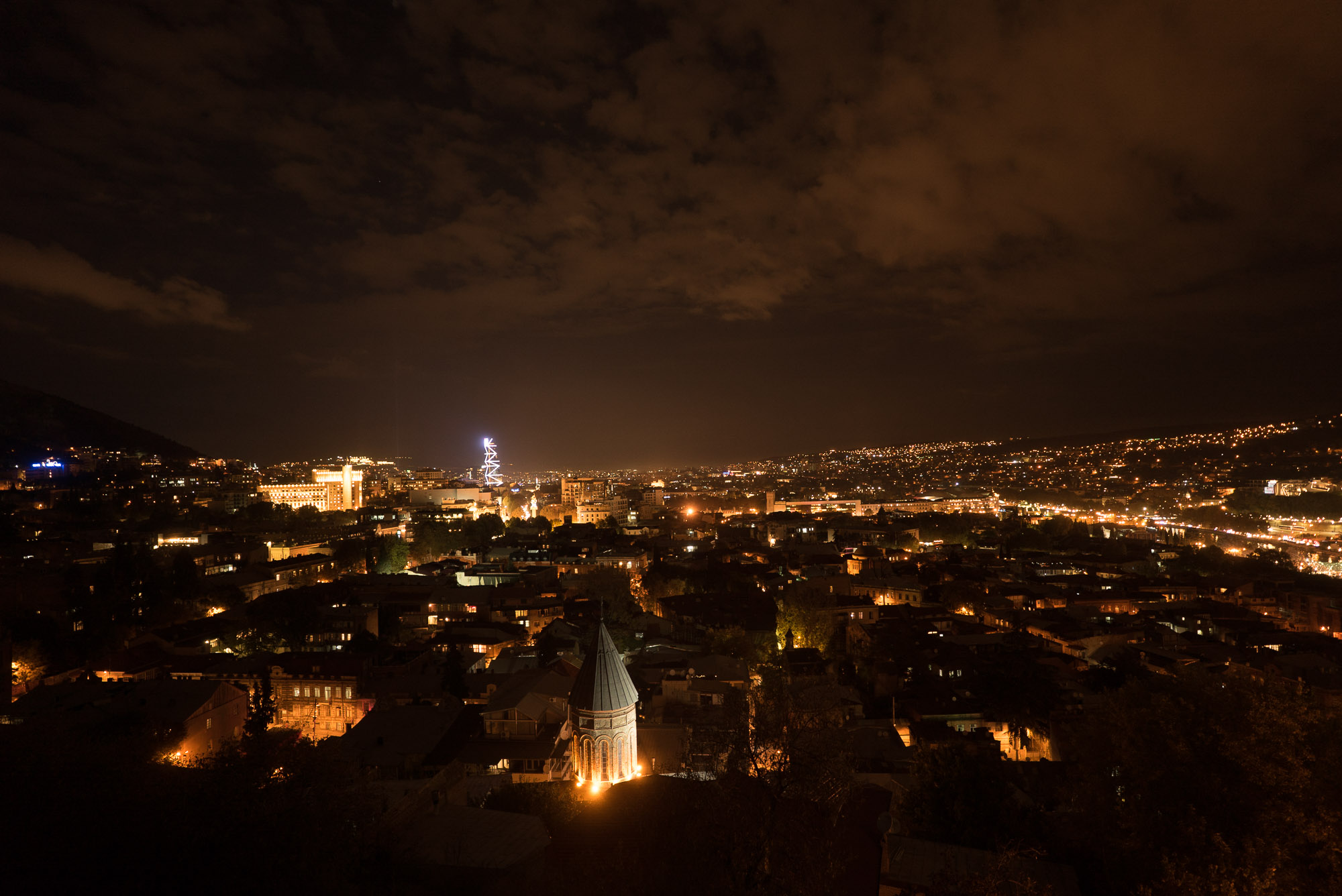 night over Tbilisi