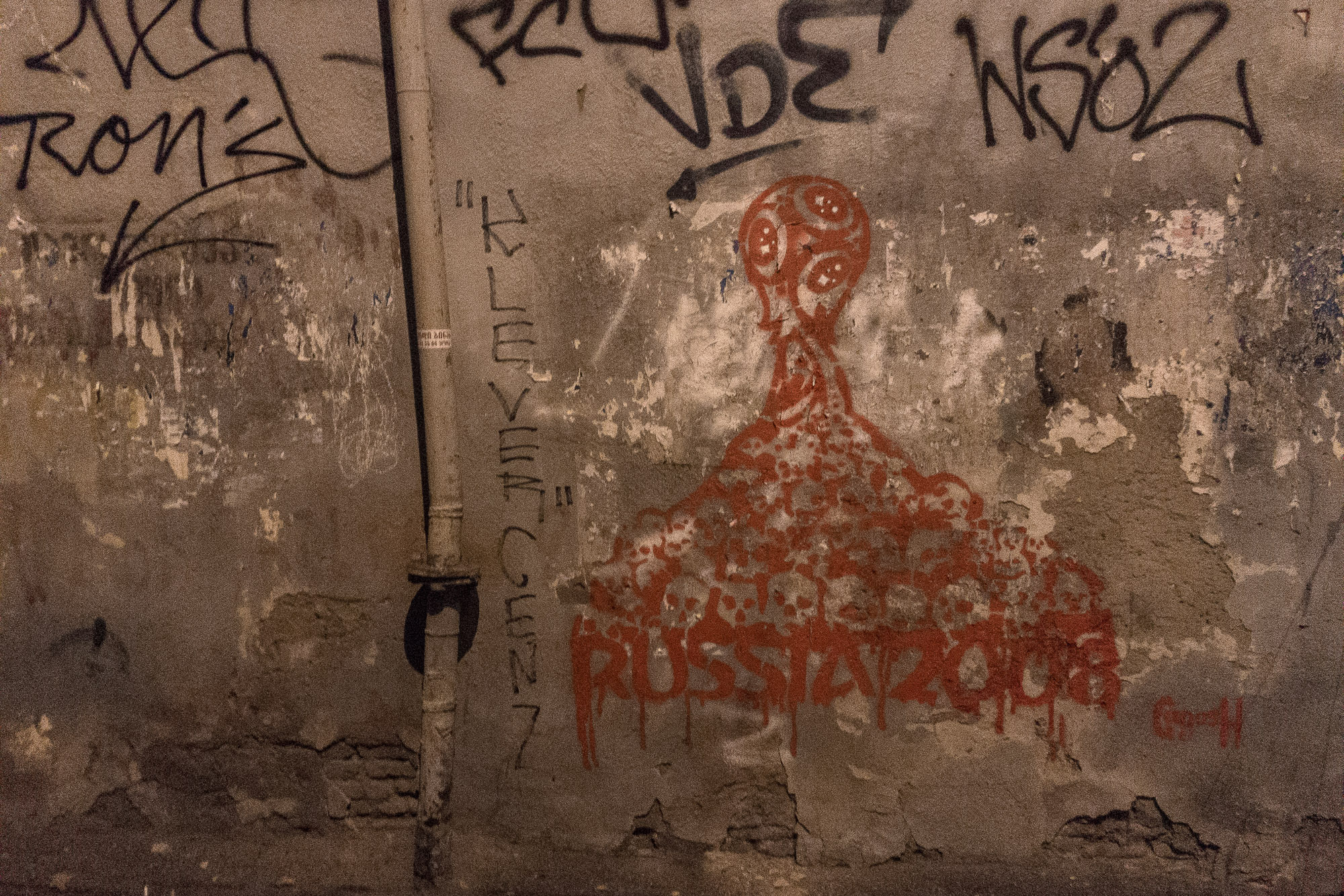anti-Russian graffito