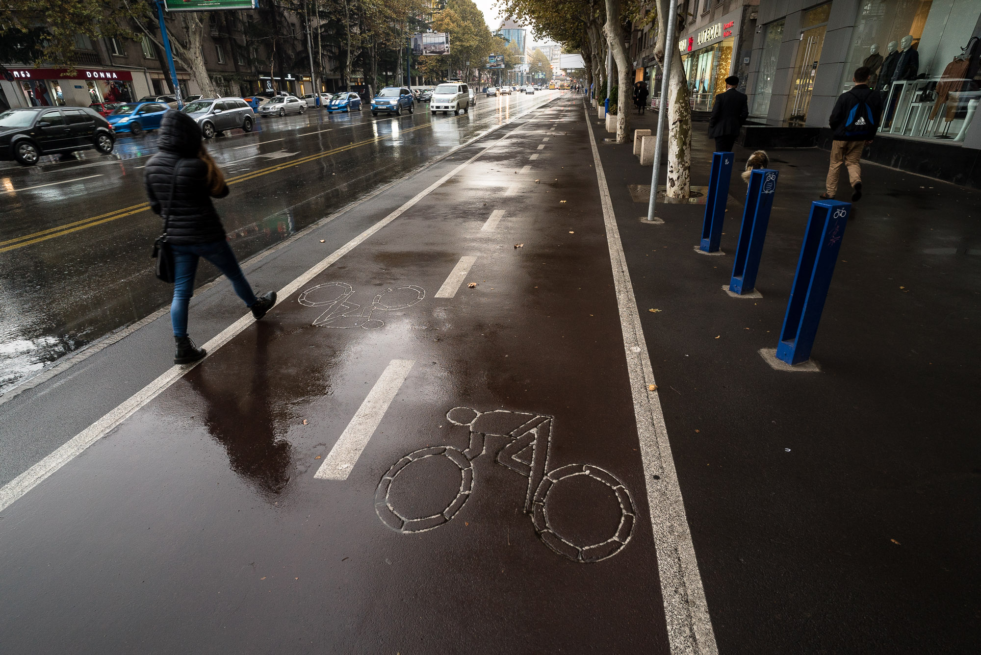 bicycle lane in Tbilisi