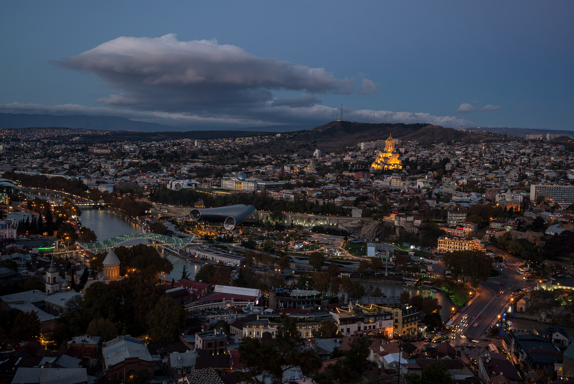 Tbilisi after nightfall