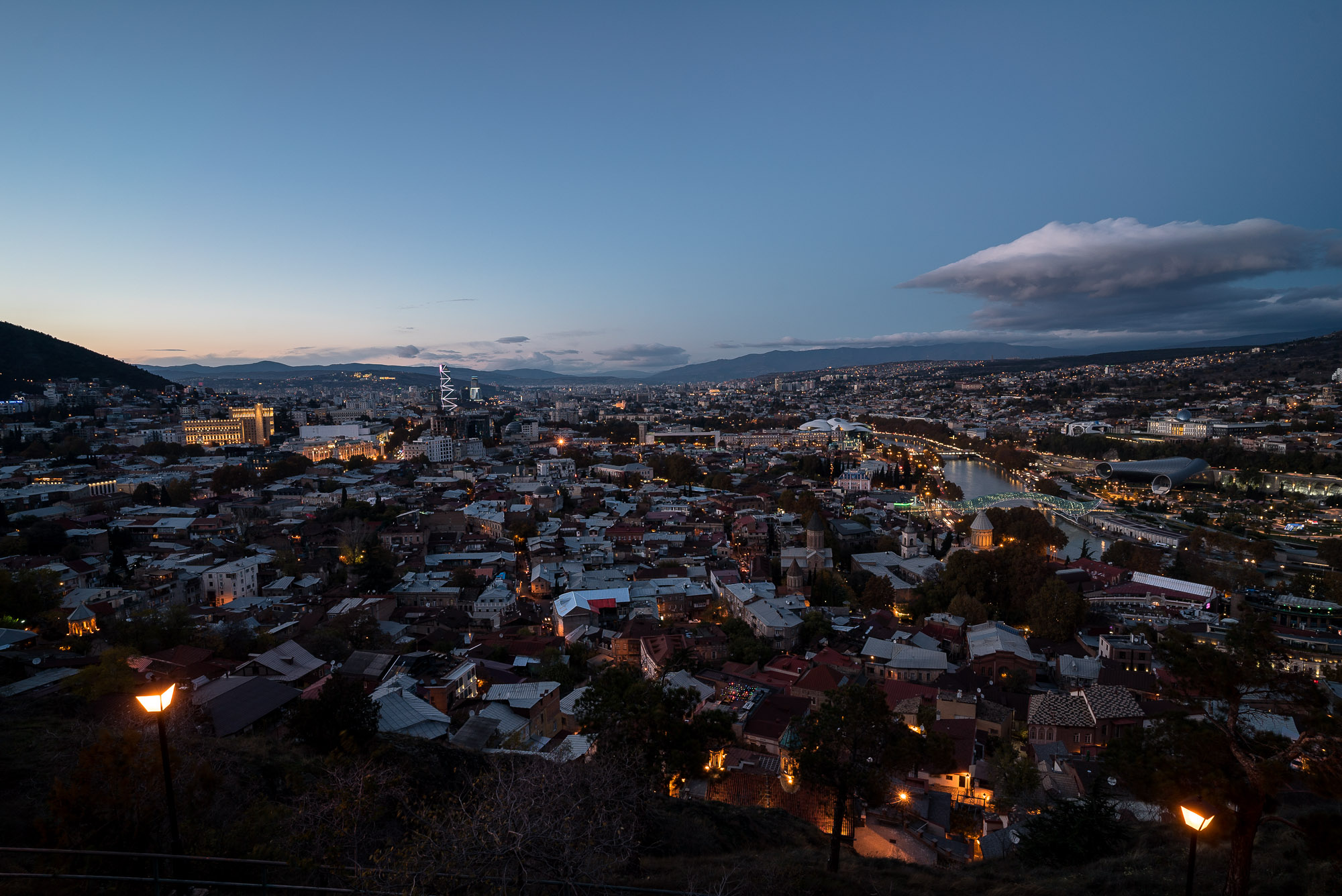 Tbilisi when the lights come on