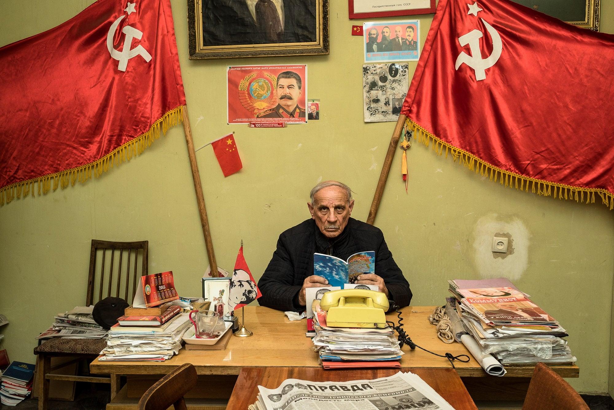 Jiuli in the Joseph Stalin Underground Printing Press Museum