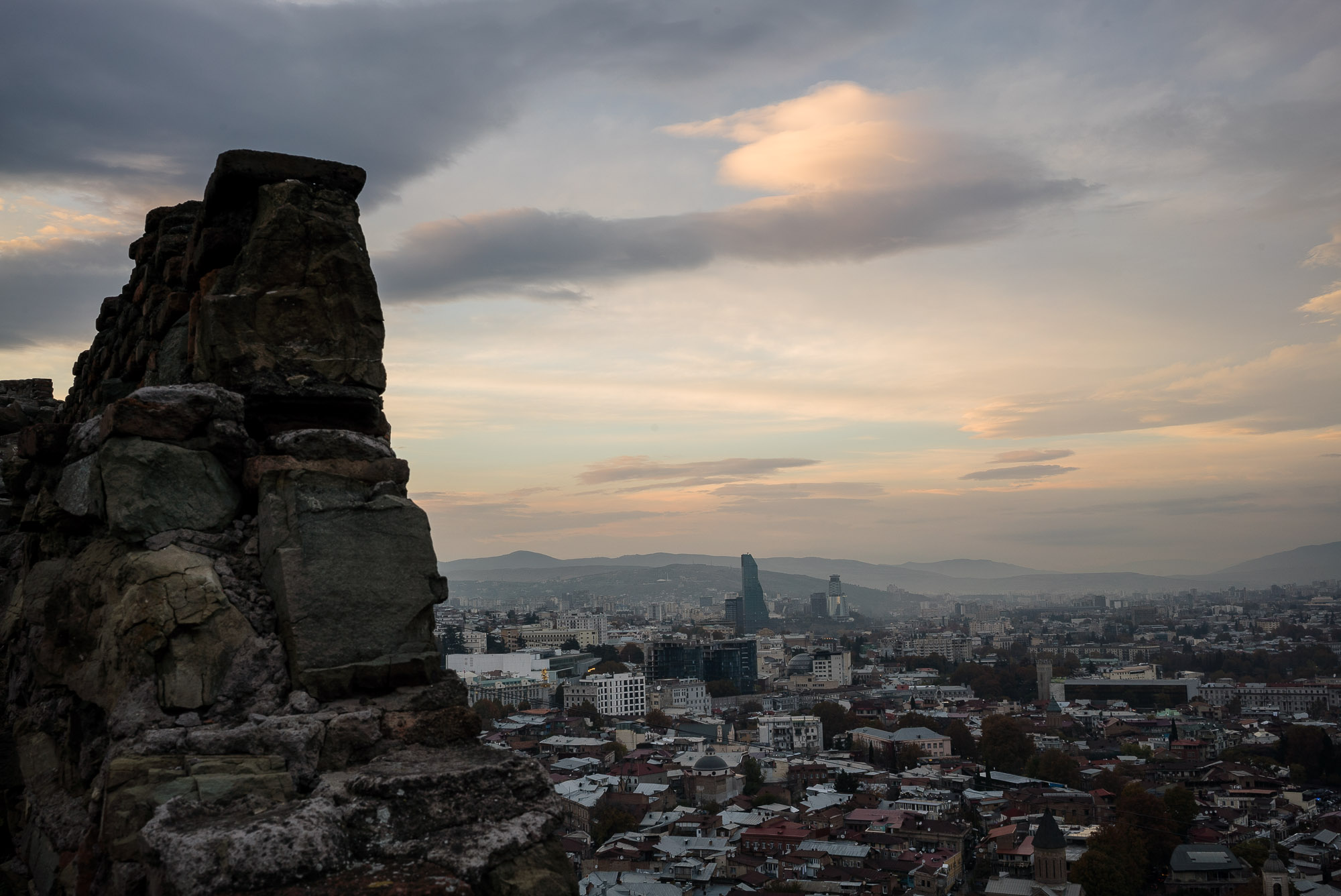 Narikala castle and Tbilisi