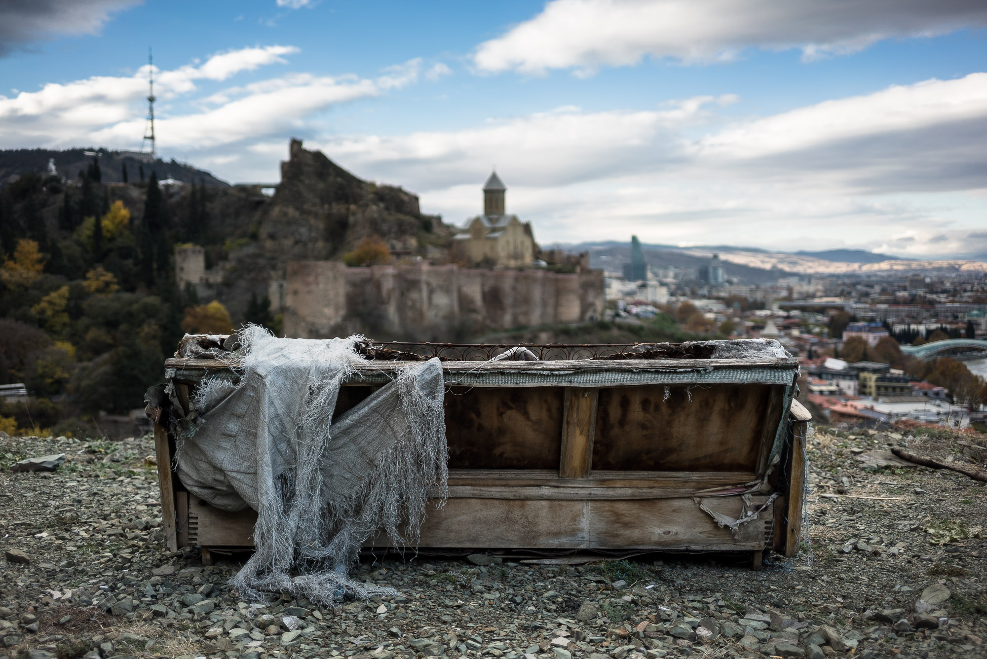 couch over Tbilisi