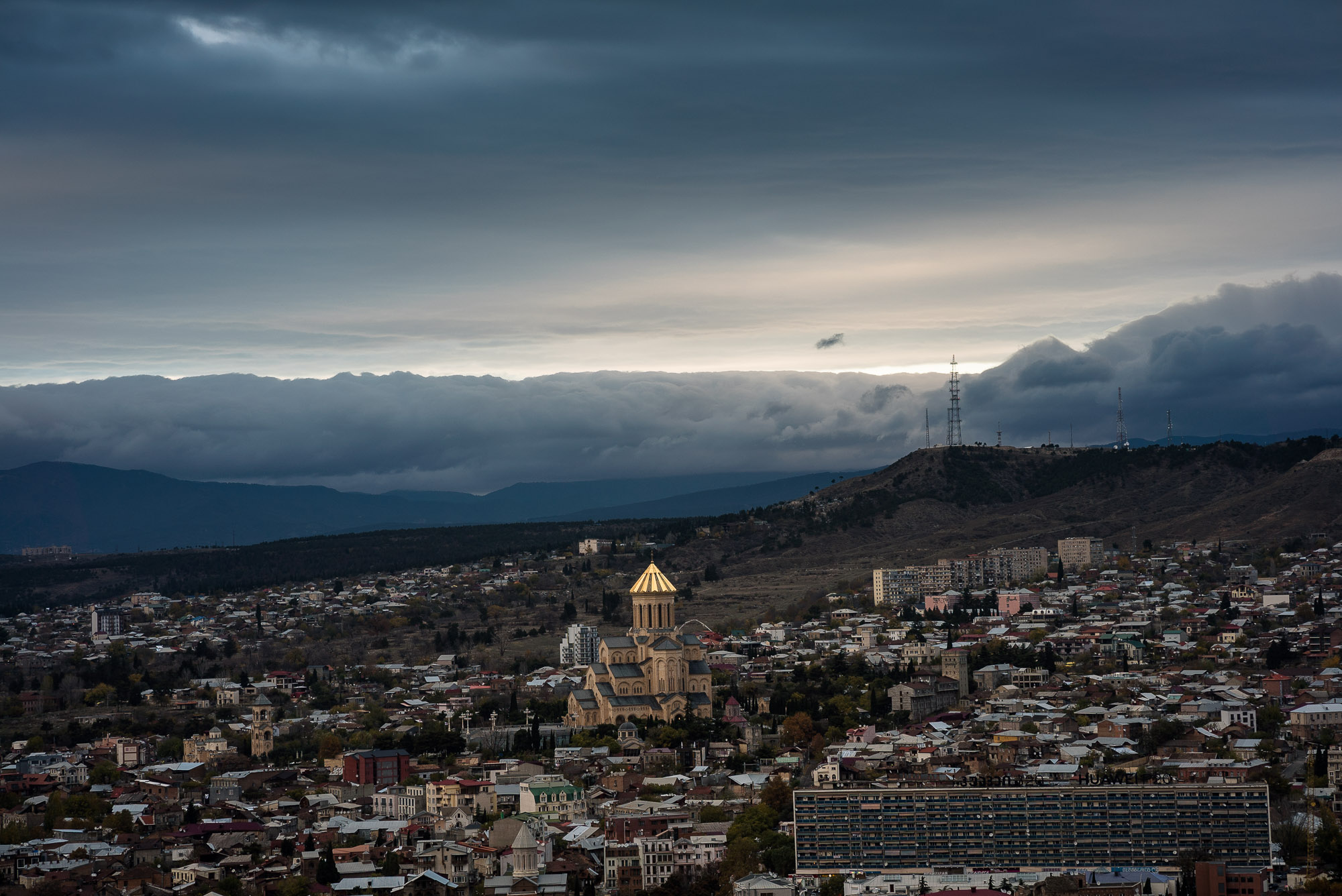 Tbilisi cathedral from afar