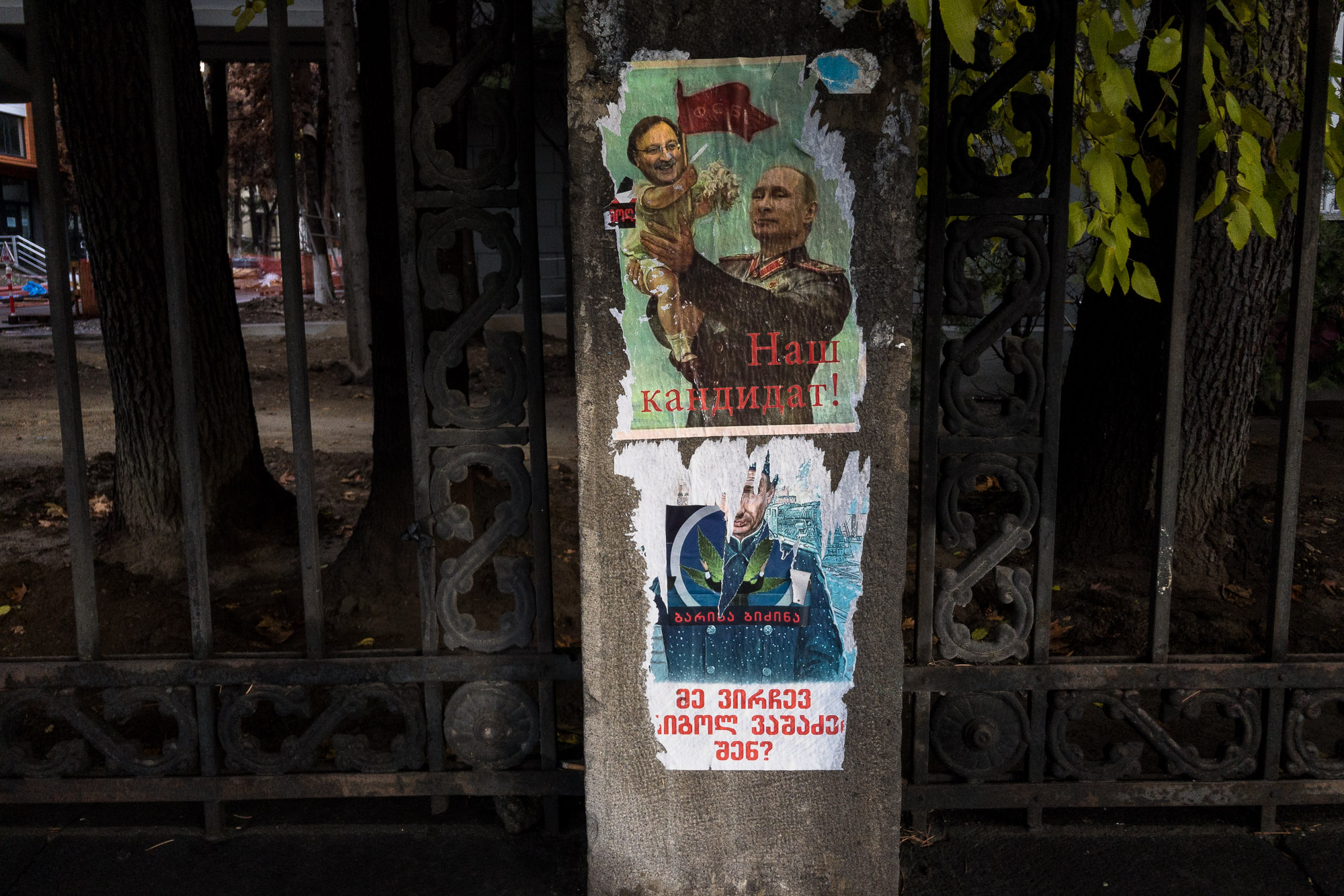 anti-Putin posters in Tbilisi