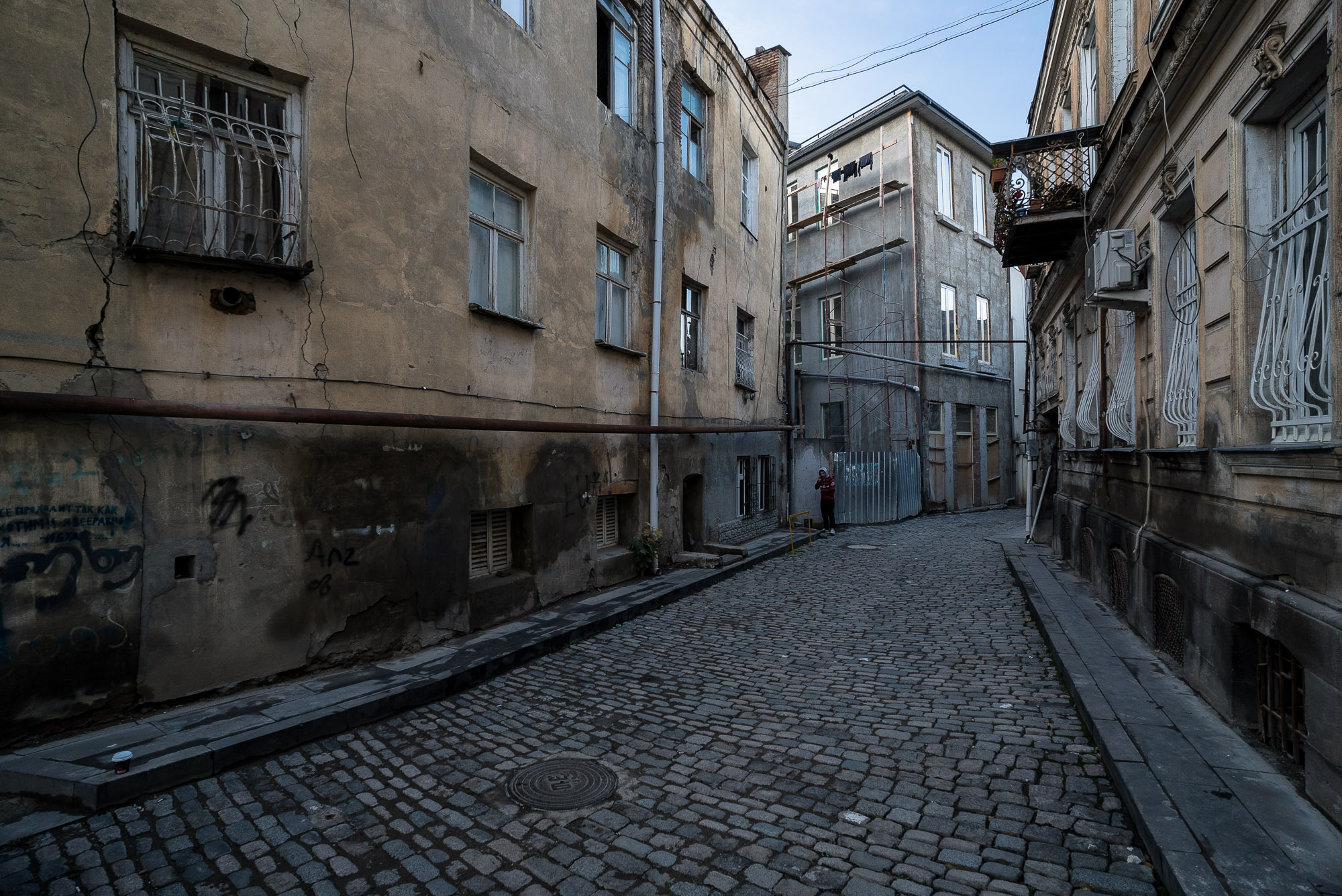 empty street in Tbilisi