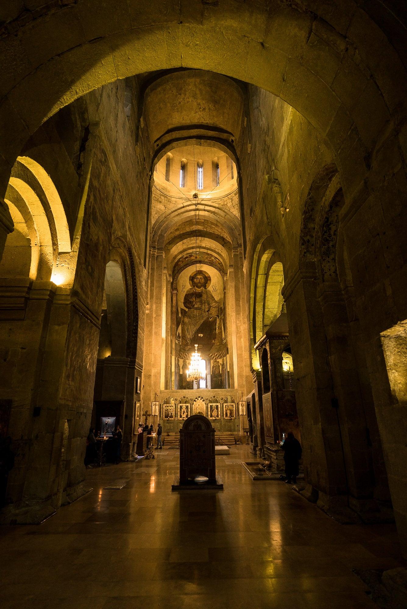 inside Mtskheta Cathedral