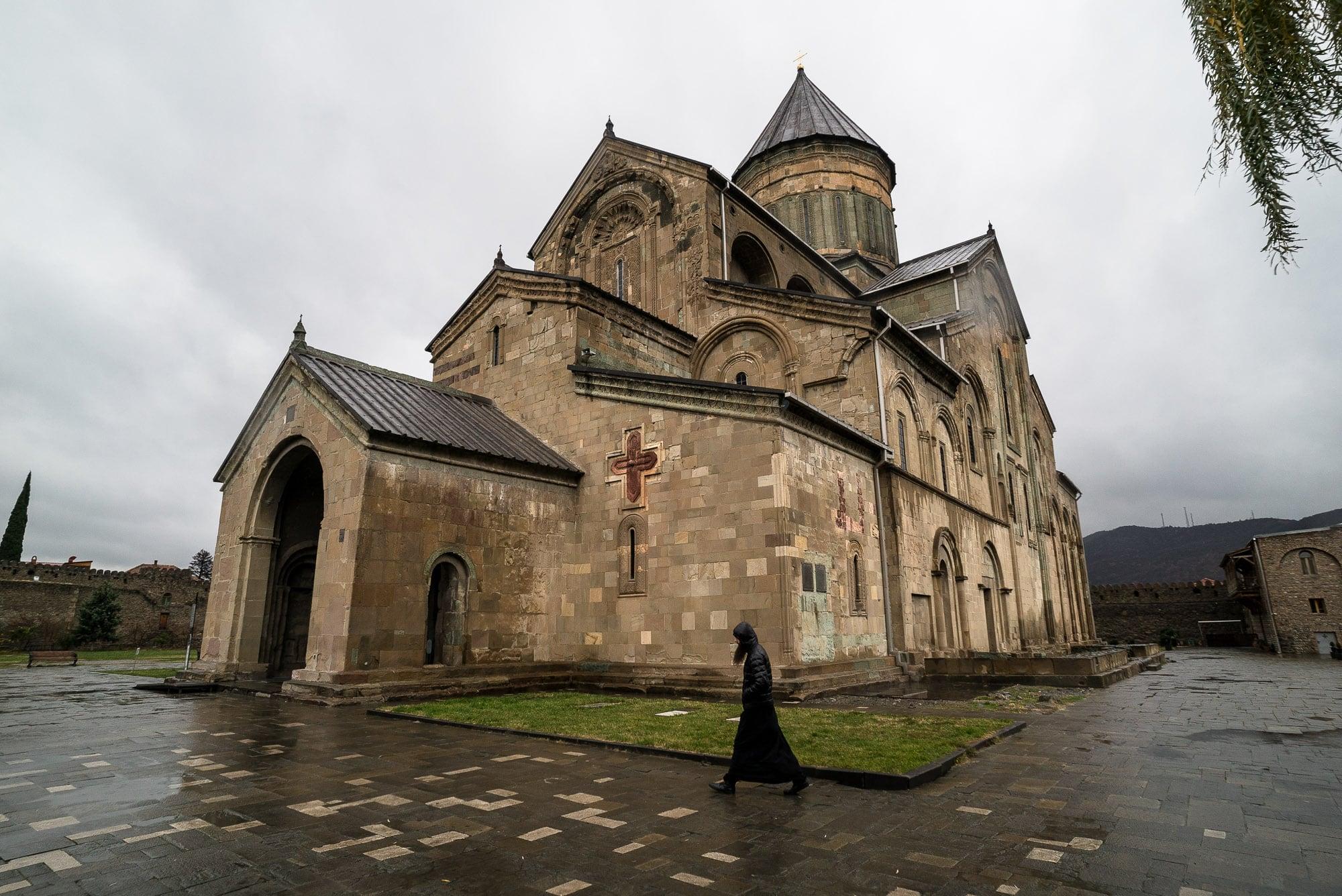 outside of Mtskheta Cathedral
