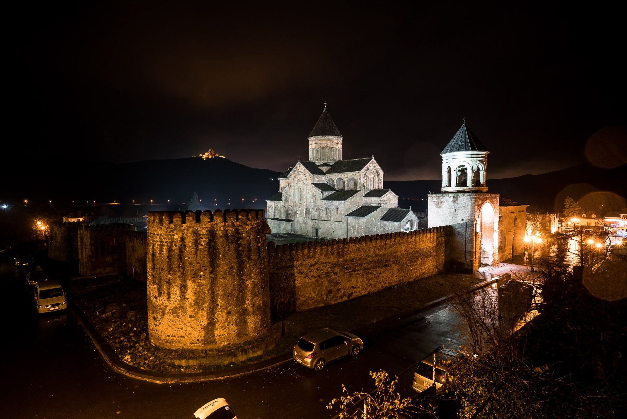 Mtskheta Cathedral at night