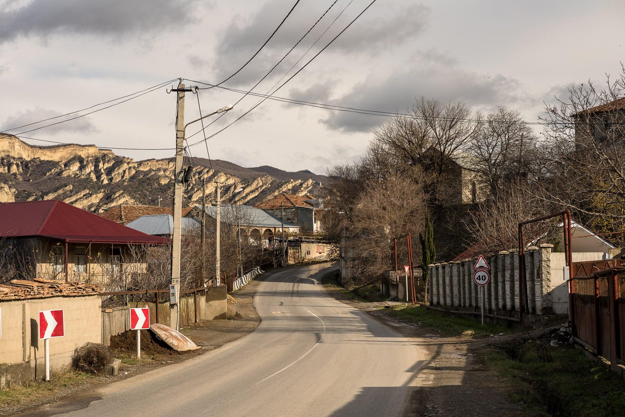 road through a Georgian village