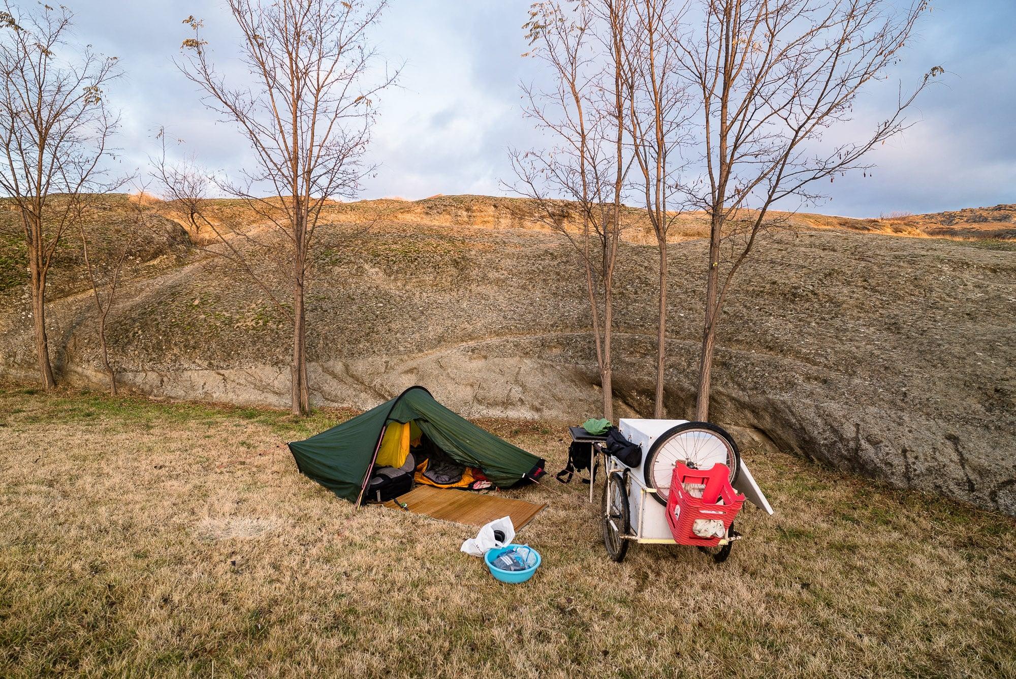 tent in Uplistsikhe