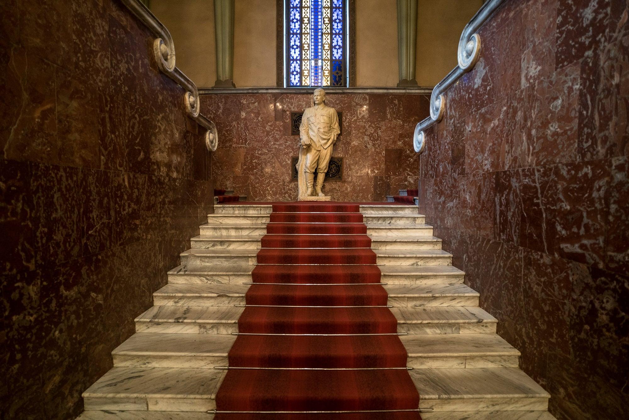 inside the Stalin Museum in Gori