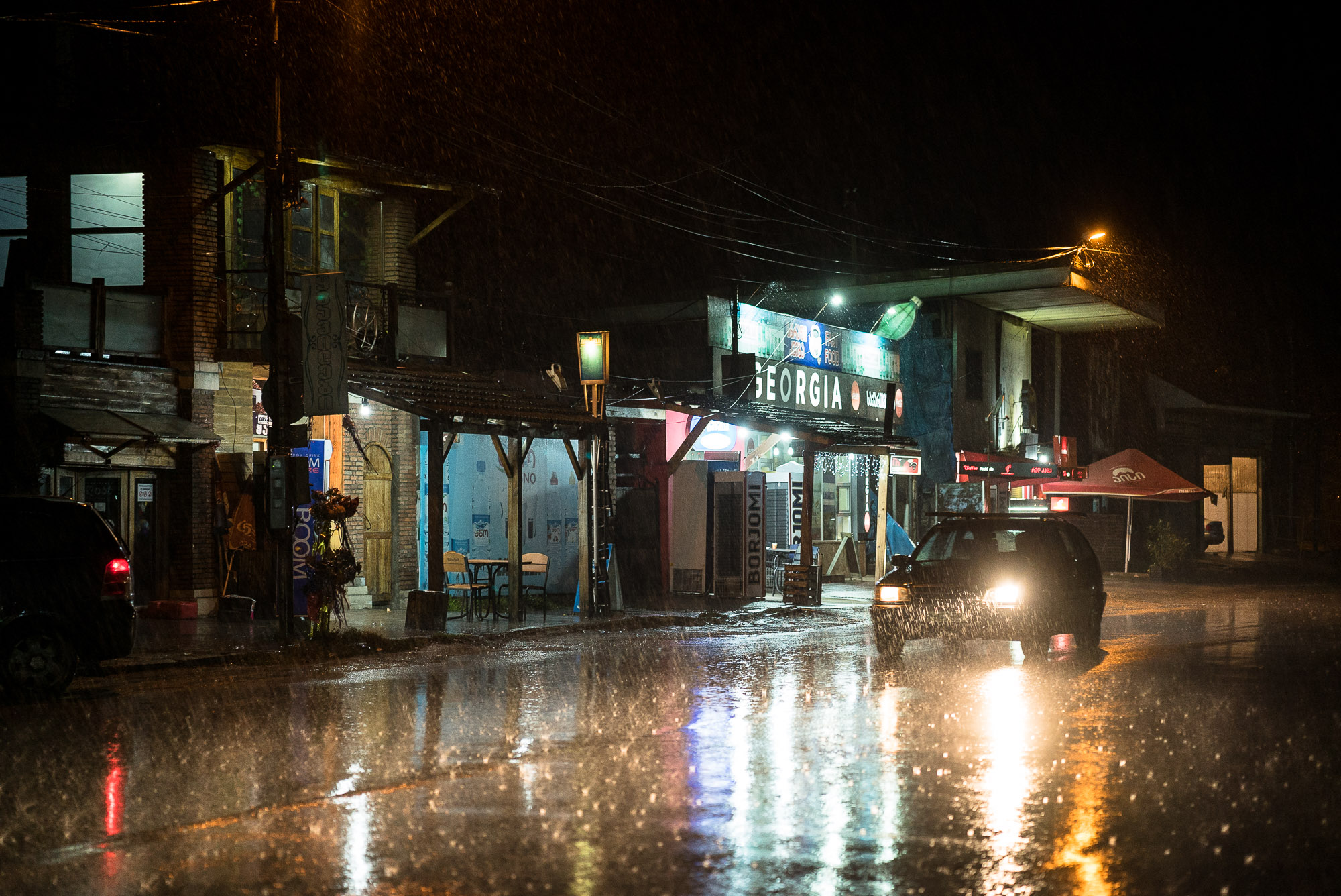 heavy rain in Zestafoni