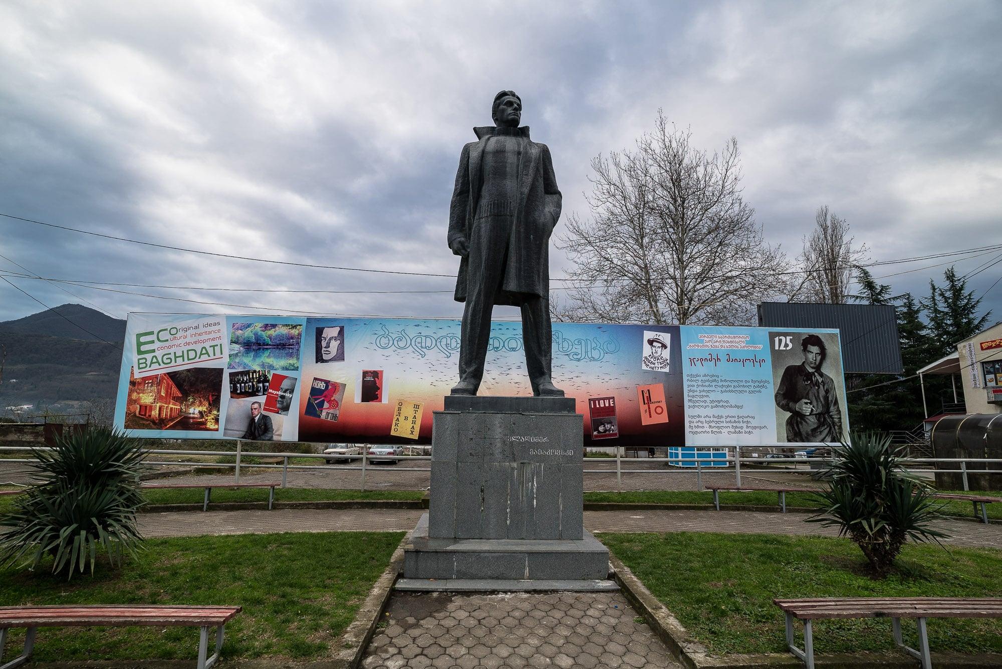 Mayakovsky statue in Baghdati