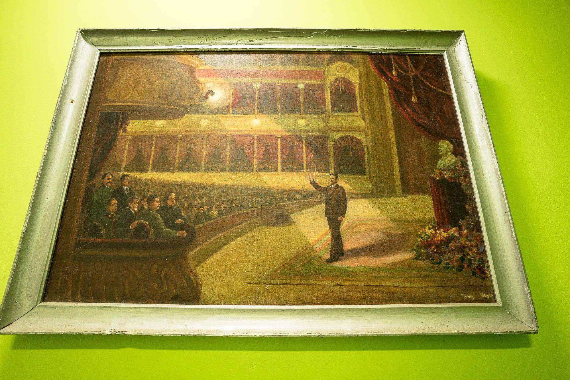 Soviet painting of Mayakovksy