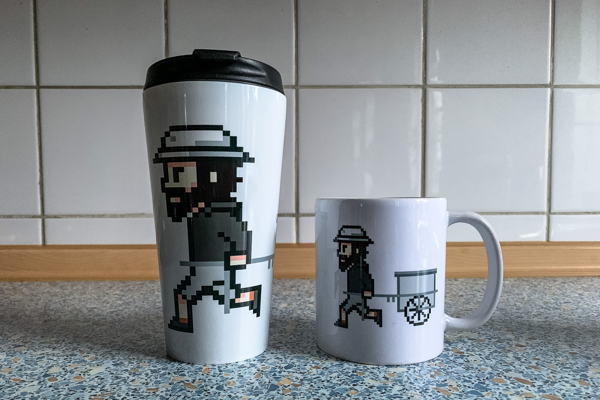 The Longest Way Pixel mugs