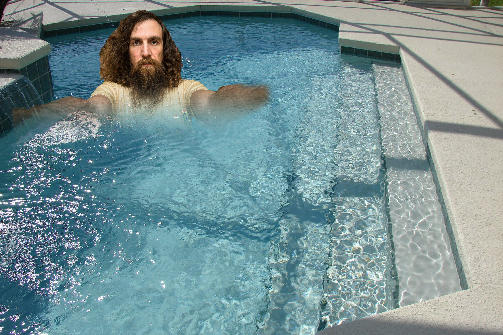 Chris in a pool
