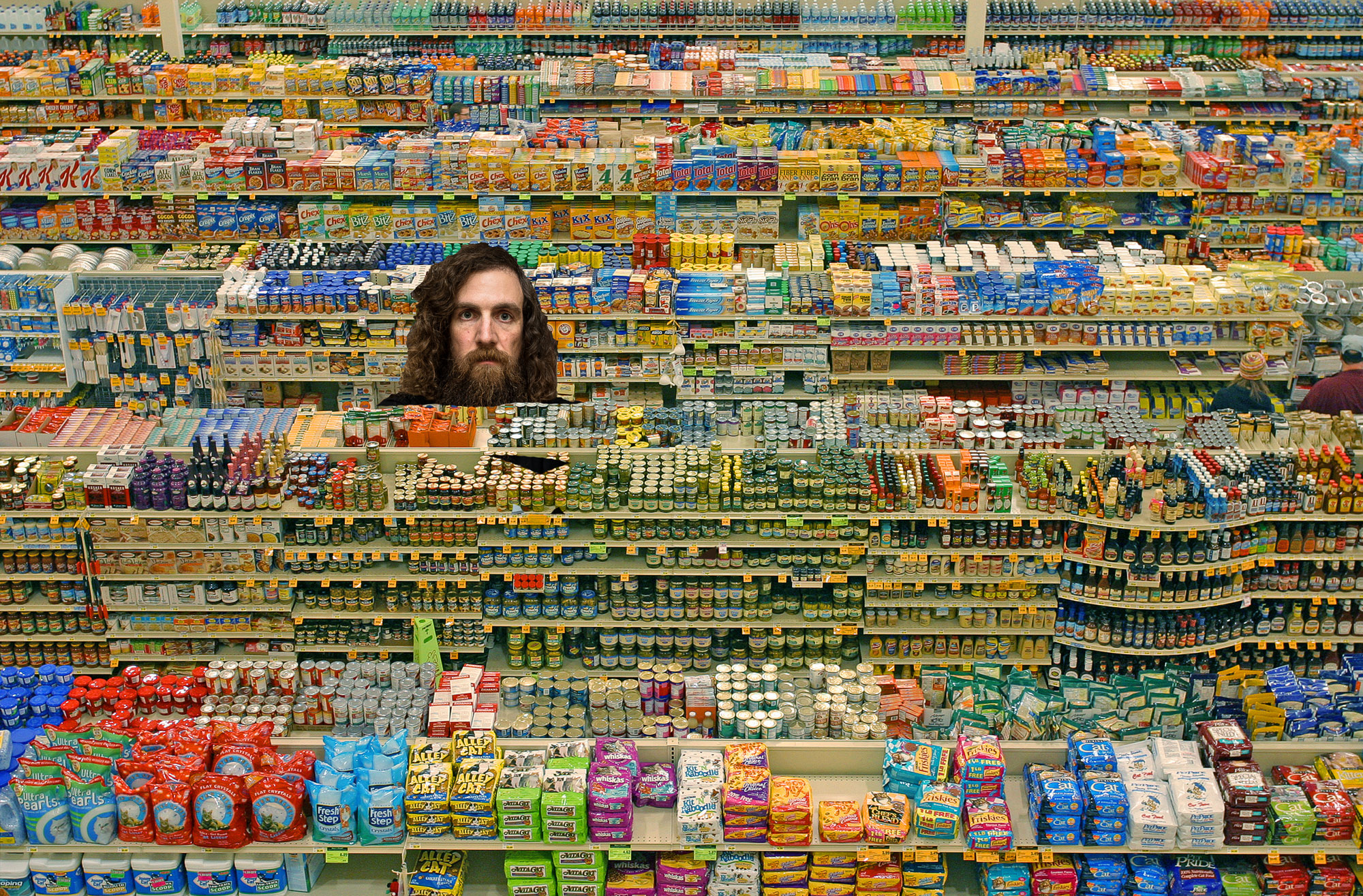 Chris in a supermarket