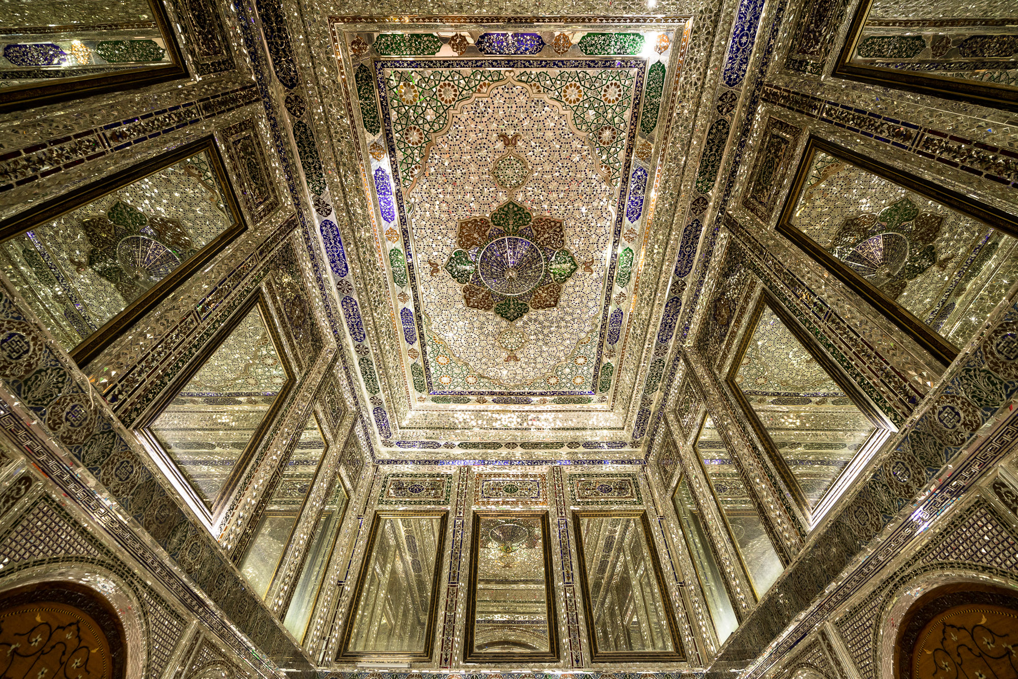 mirrors in Qavam House