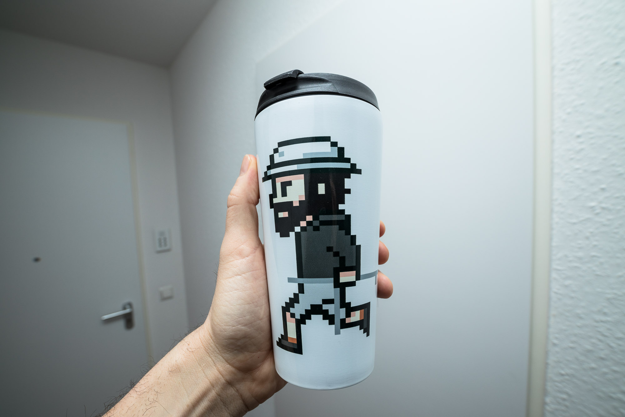 The Longest Pixel Travel Mug