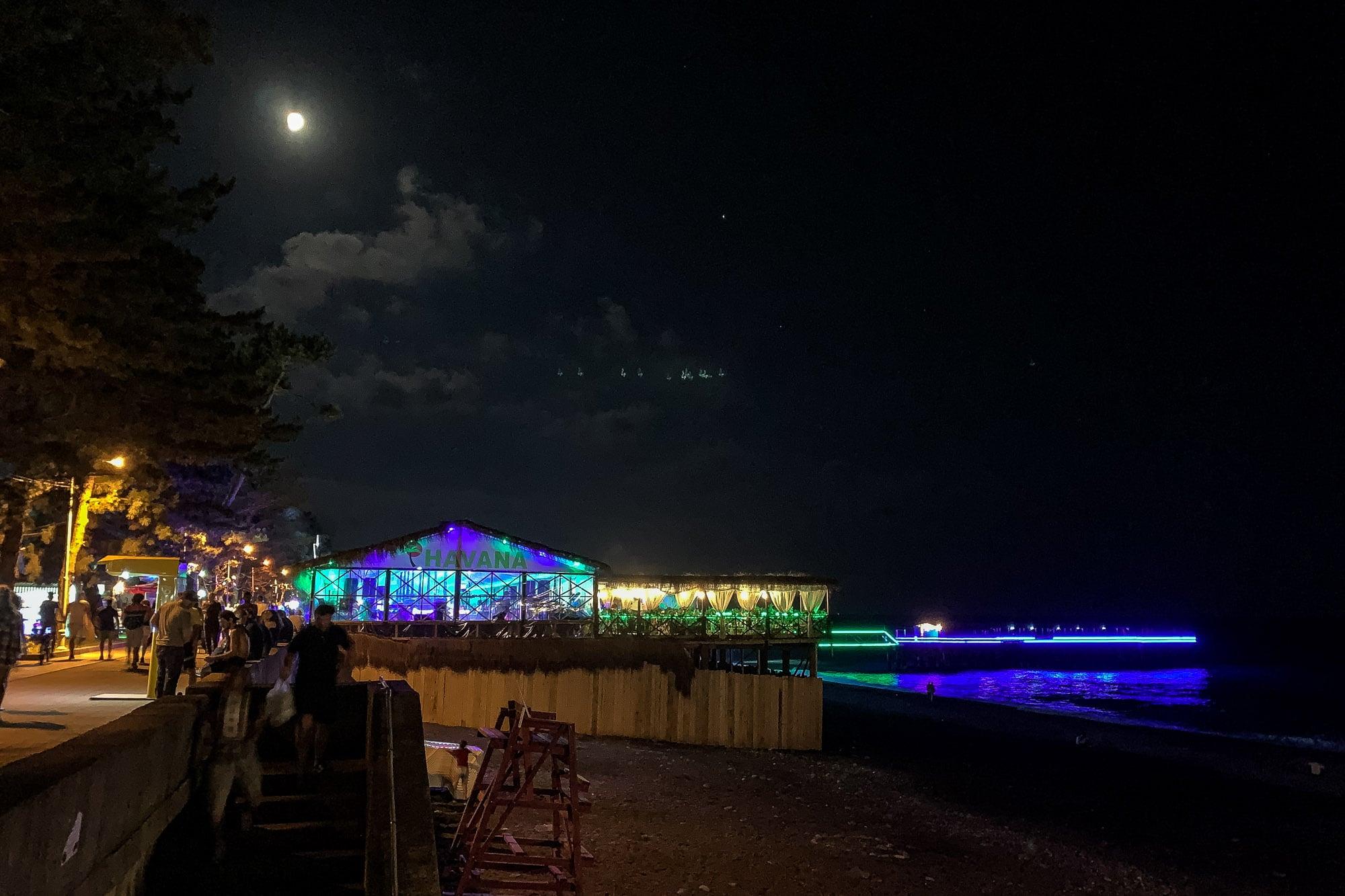 Kobuleti Beach at night