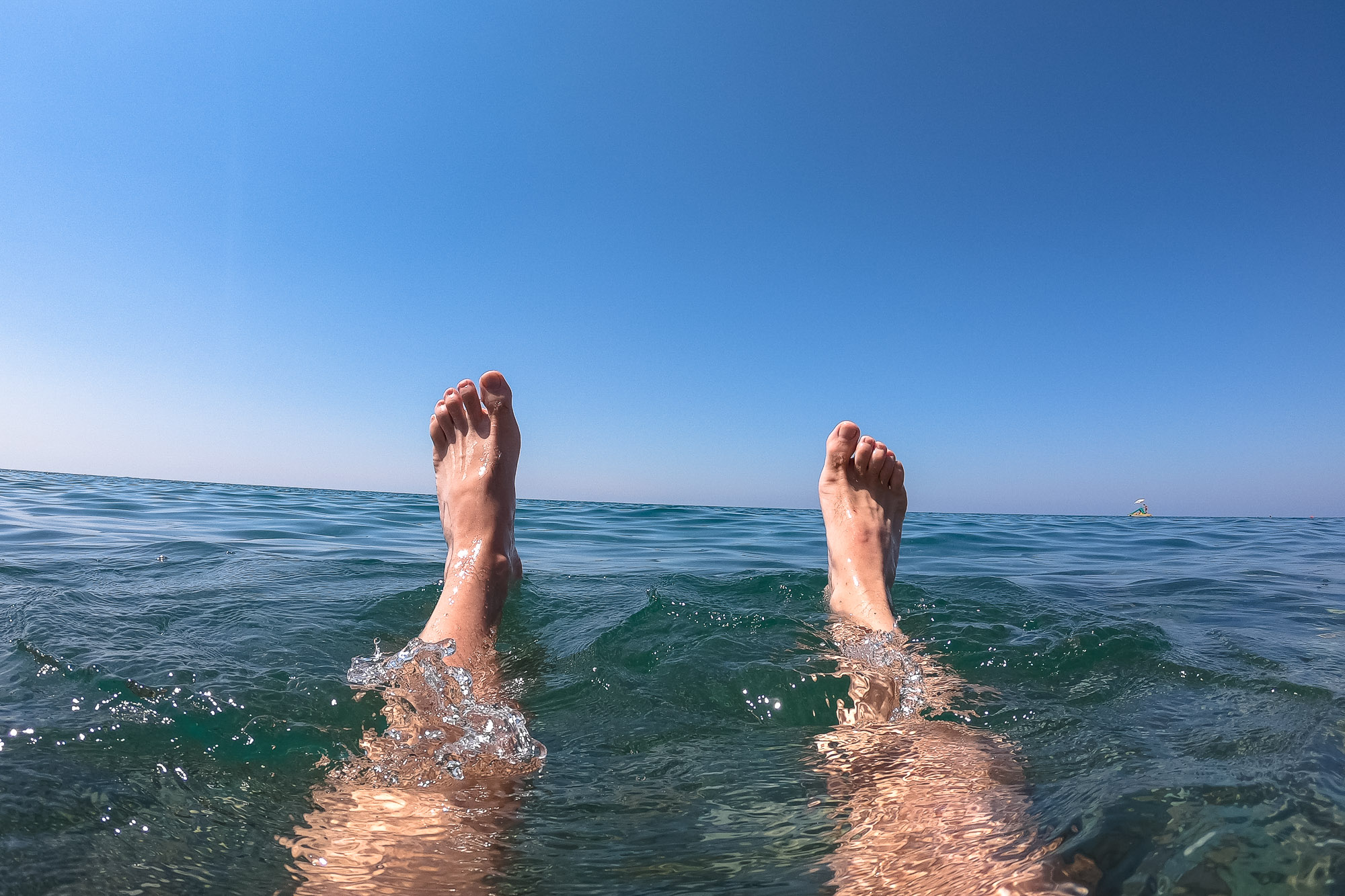 my feet in the Black Sea
