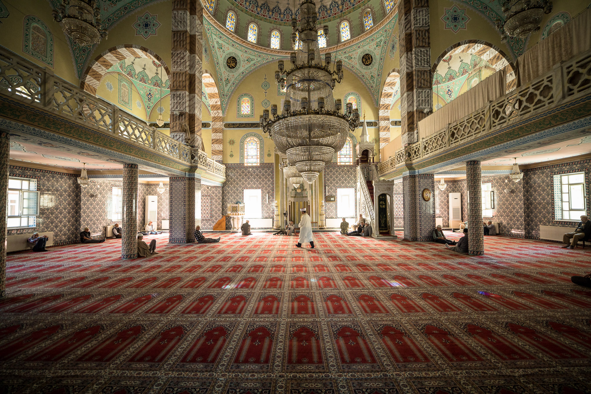 inside the mosque in Pazar