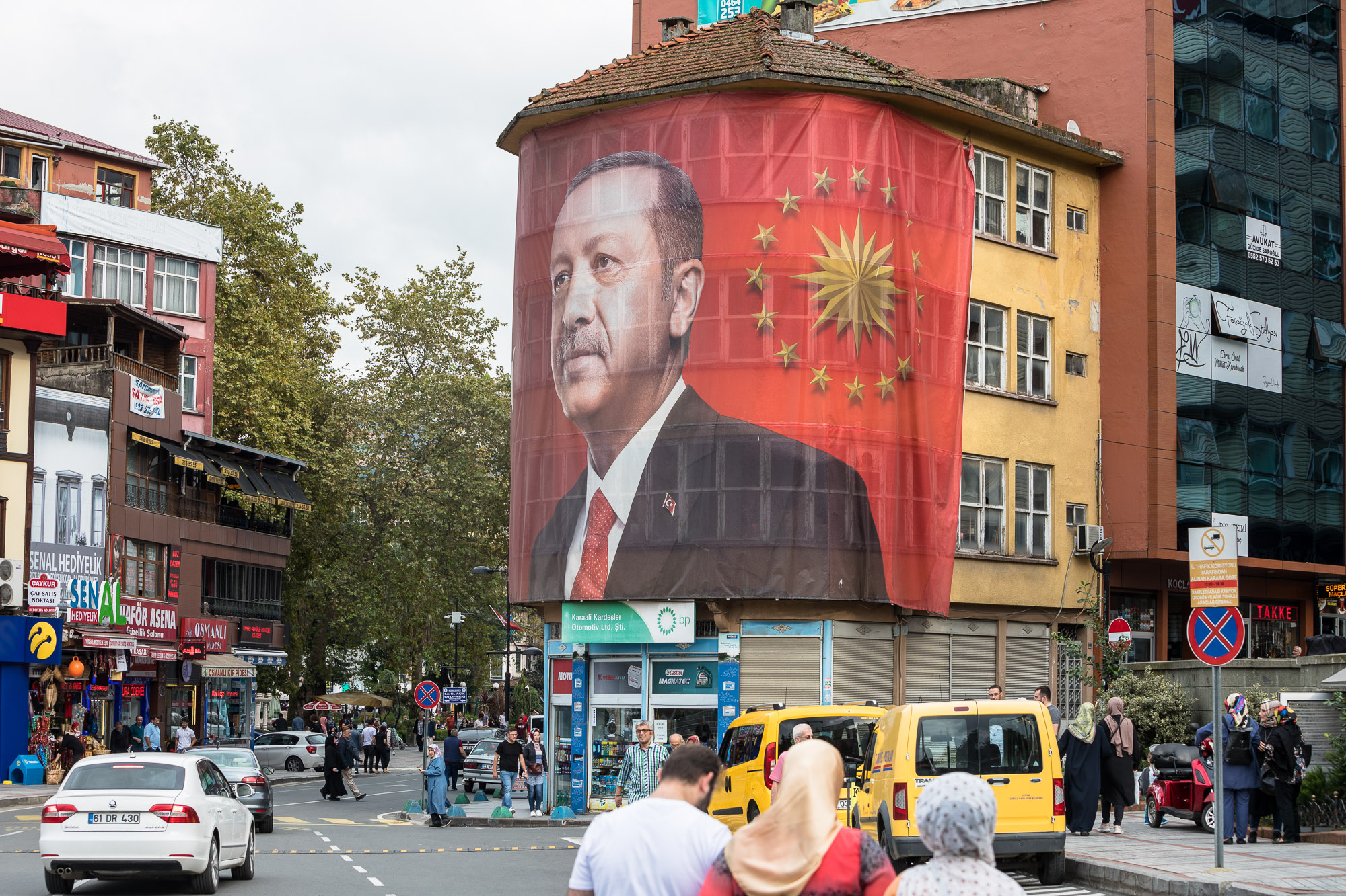 Erdogan poster in Rize