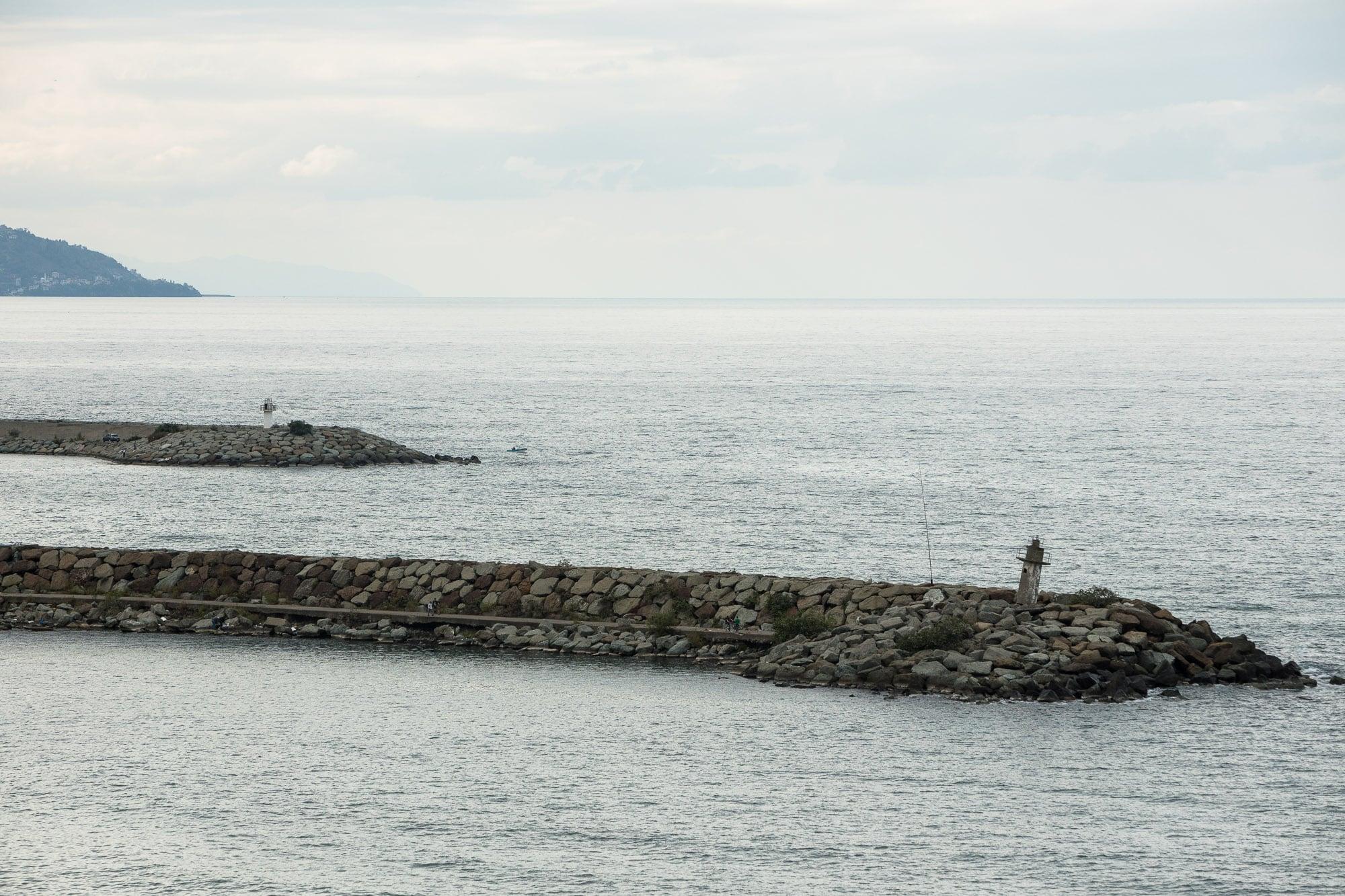 piers in the Black Sea
