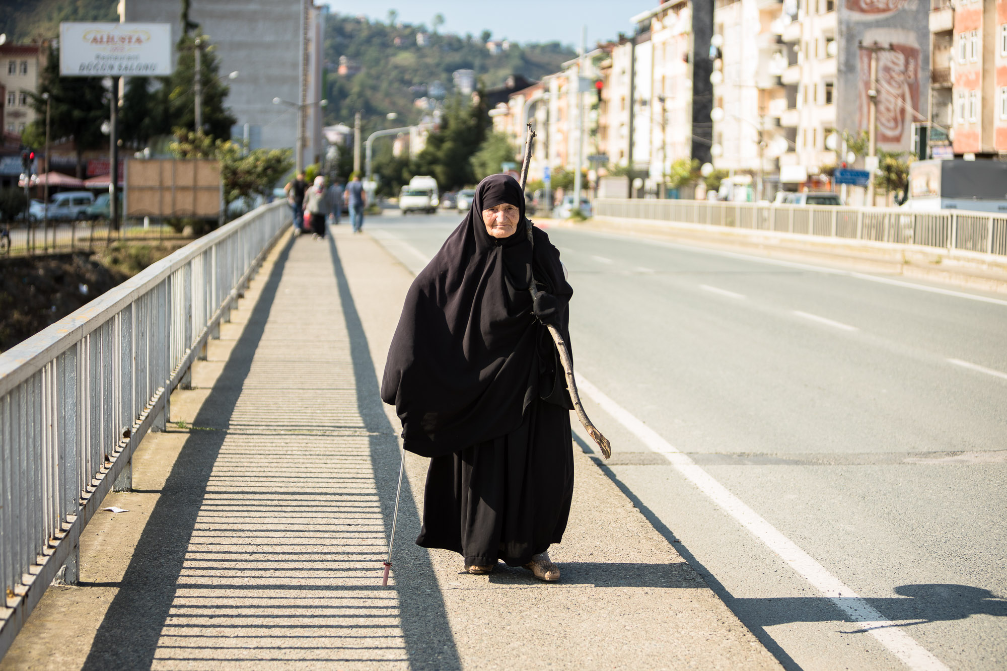 old lady in black in Arakli
