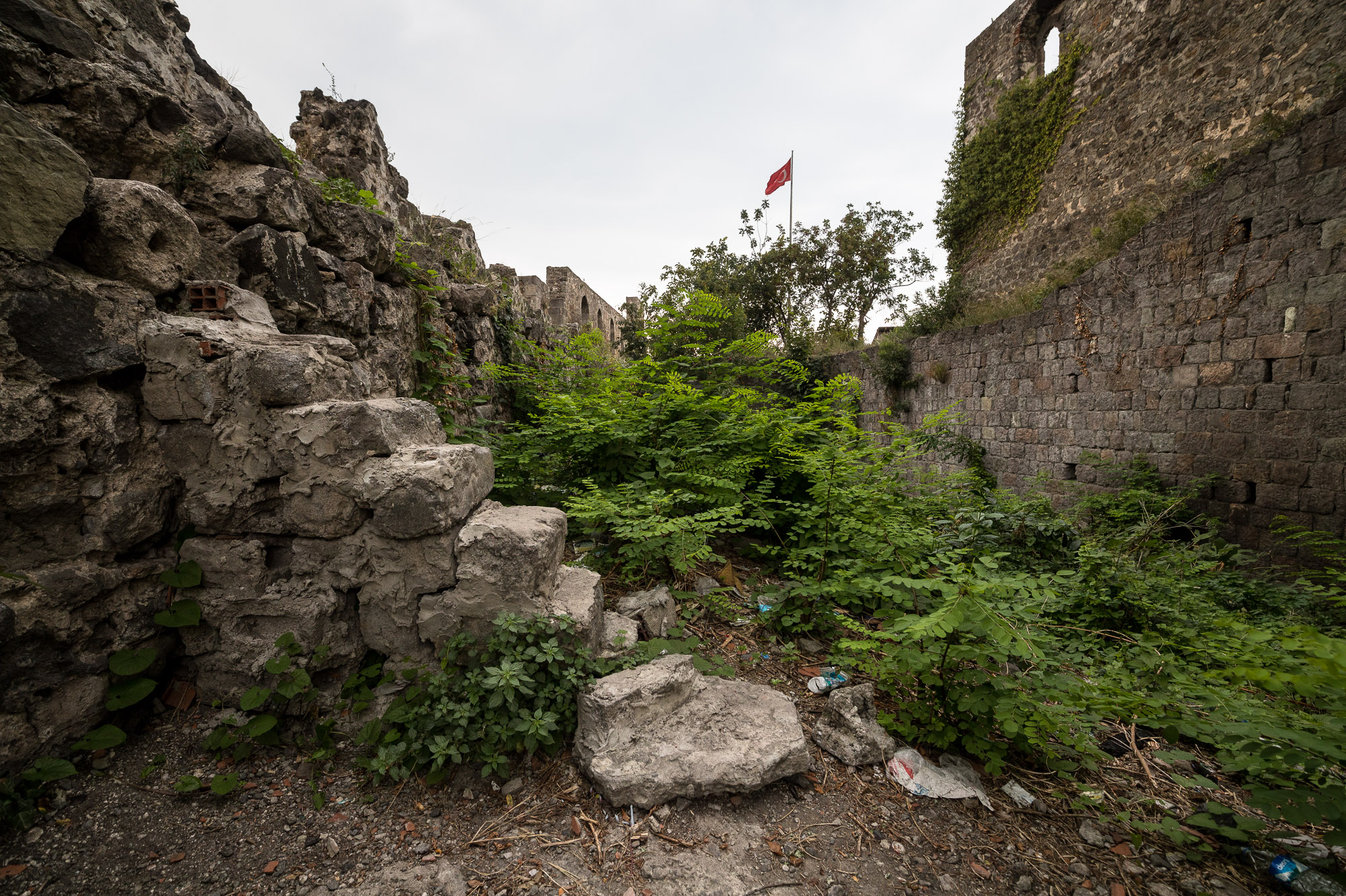 inside the wall ruins of Trabzon