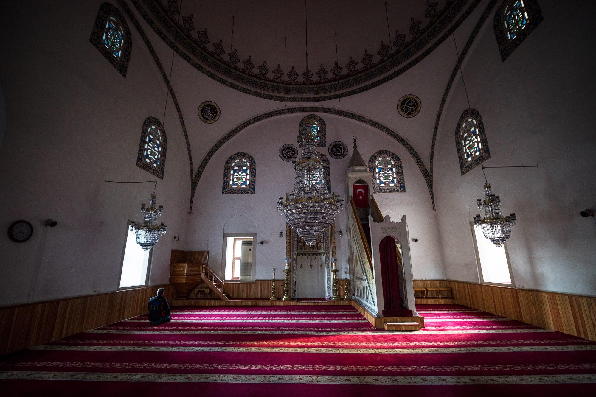inside Gülbahar Hatun mosque
