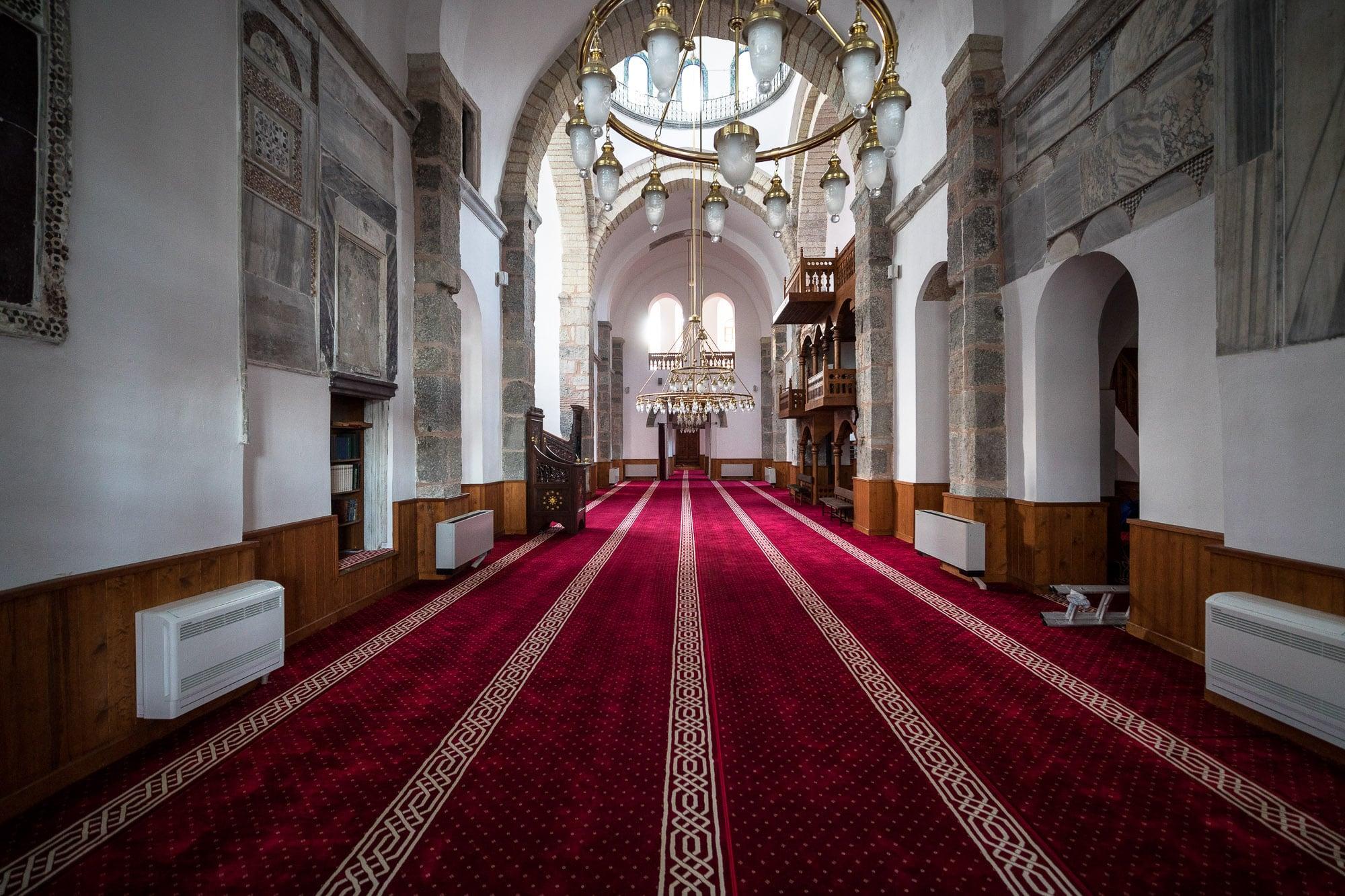 inside Ortahisar Fatih mosque
