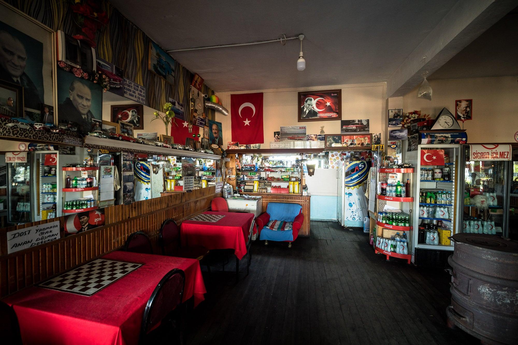 inside Aihan's teahouse